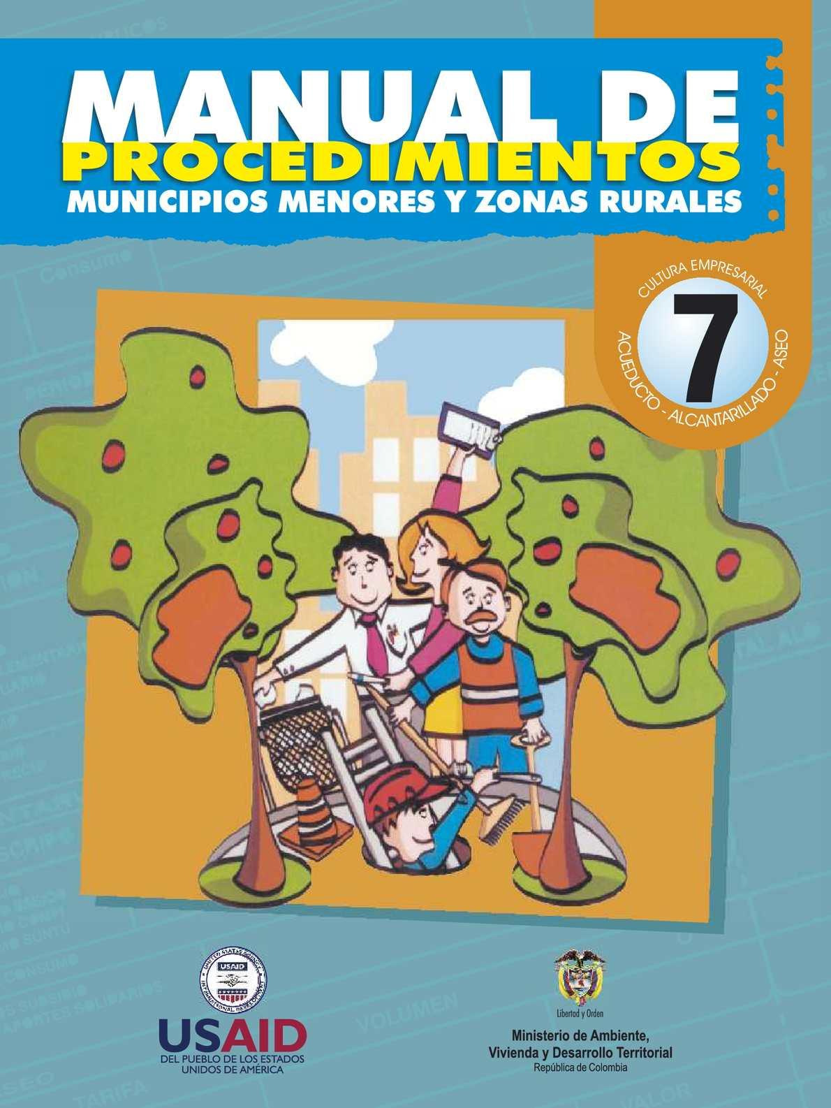 Manual de Procedimientos - Municipios Menores y Zonas Rurales