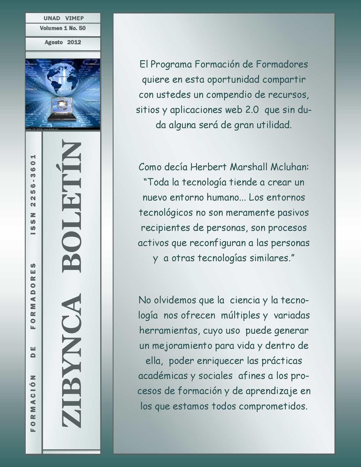 Calaméo - Zibynca Boletín No. 50