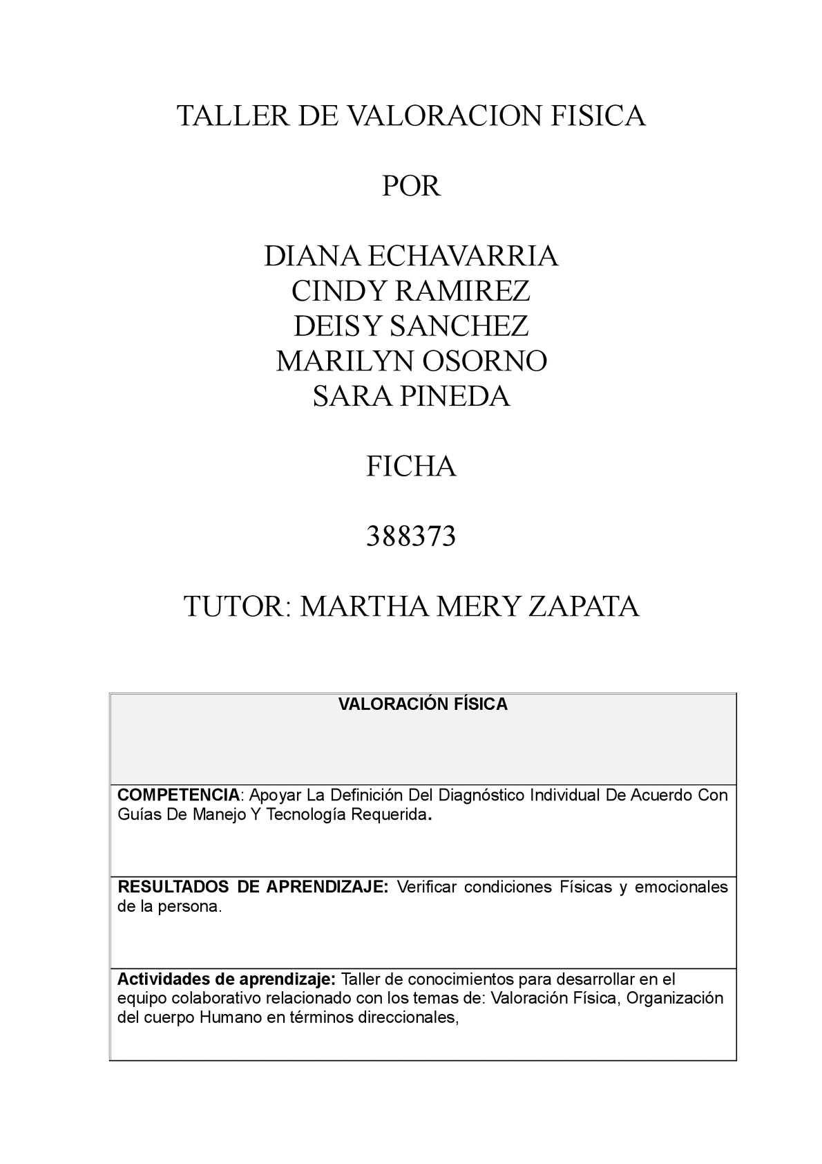 Calaméo - TALLER DE VALORACION FISICA