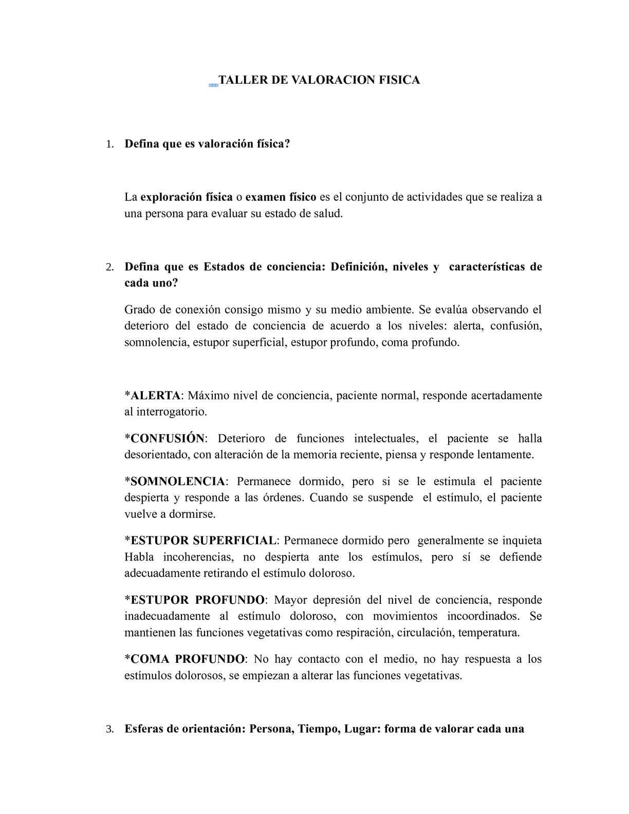 Calaméo - TALLER DE VALORACION FISICA Solución Agosto