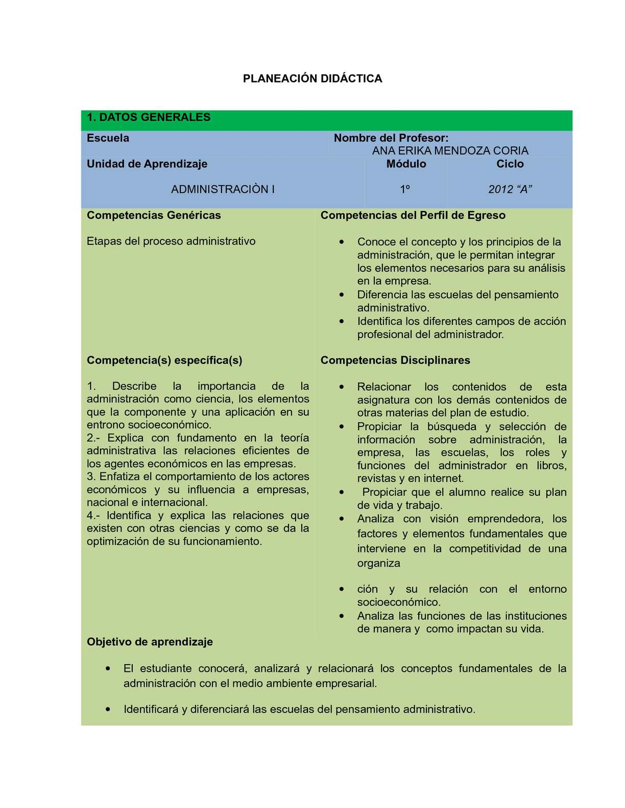 ADMINISTRACION II DGB