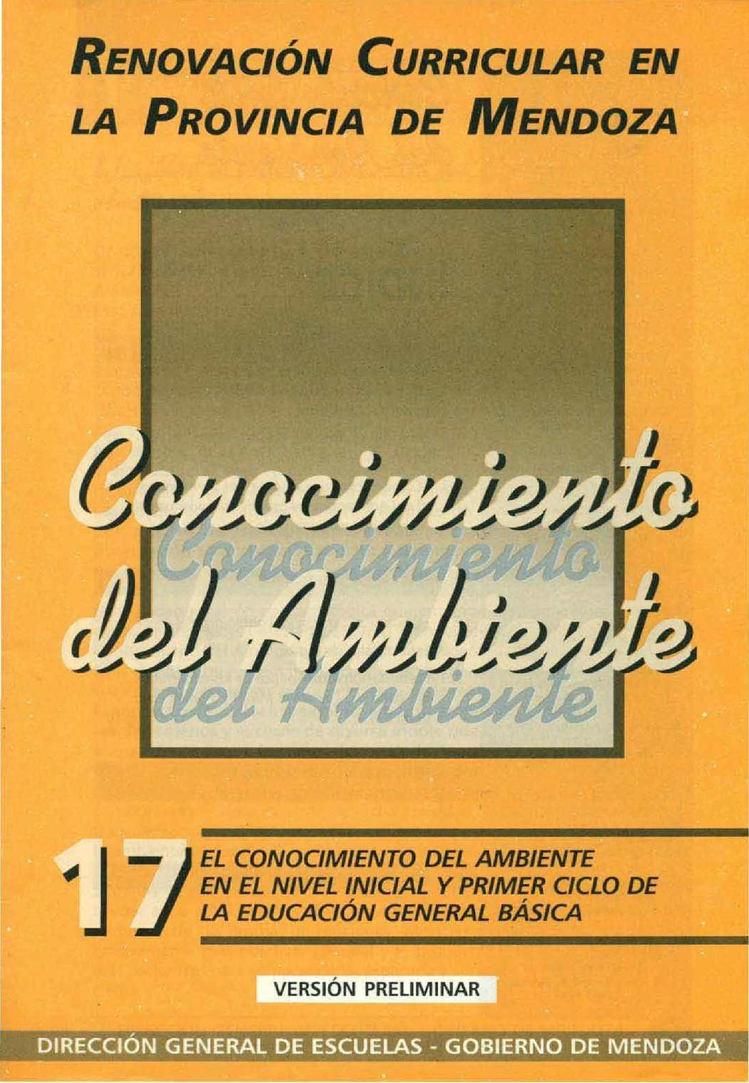 CUADERNILLO 17 - CONOCIMIENTO DEL AMBIENTE 1PARTE