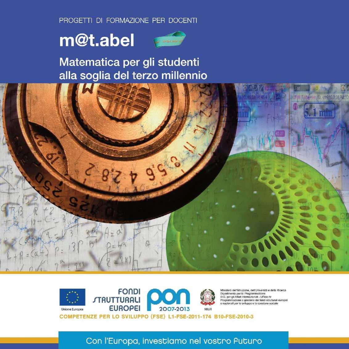 m@t.abel Matematica per gli studenti alla soglia del terzo millennio