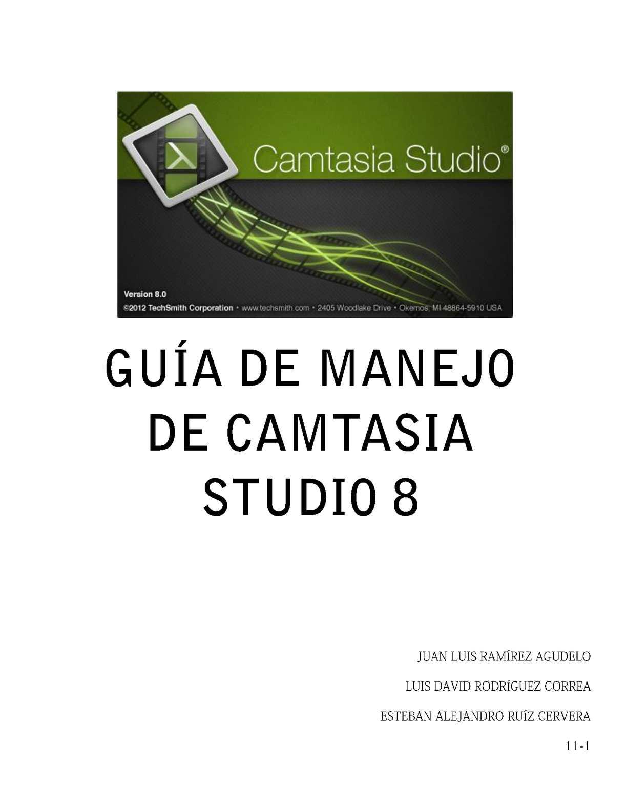 GUÍA CAMTASIA STUDIO 8