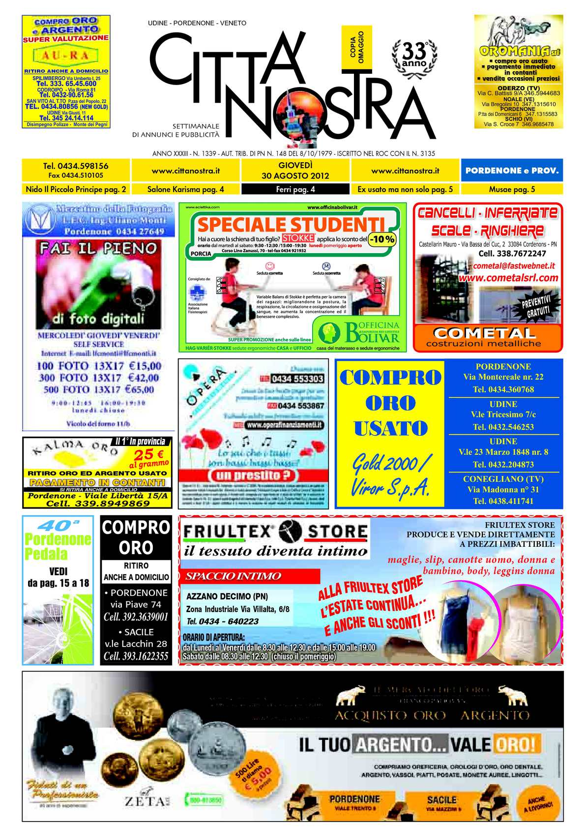 calaméo - città nostra pordenone del 02.08.2012 n. 1339 - Gazebo Unico Progetta Impresa Stecca Balaustra