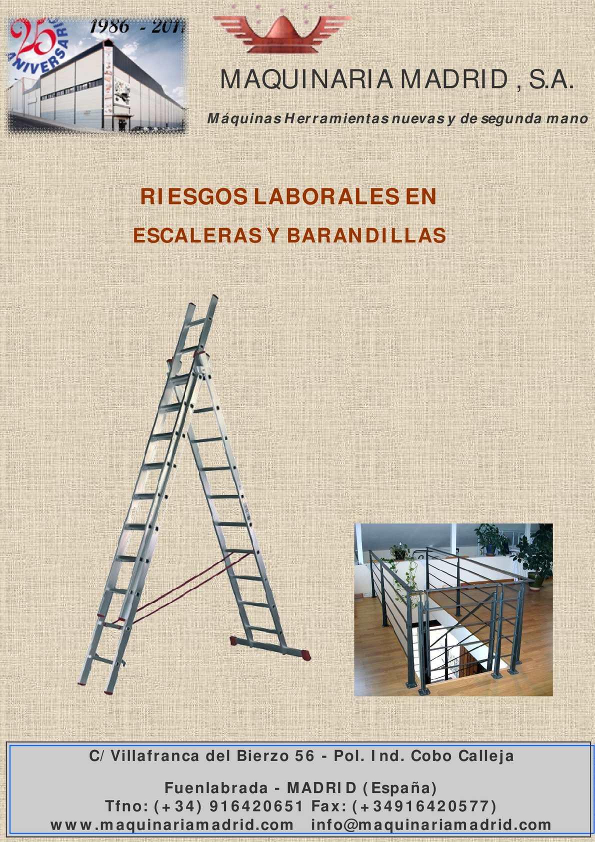 Calam o riesgo en escaleras y barandillas - Escaleras y barandillas ...