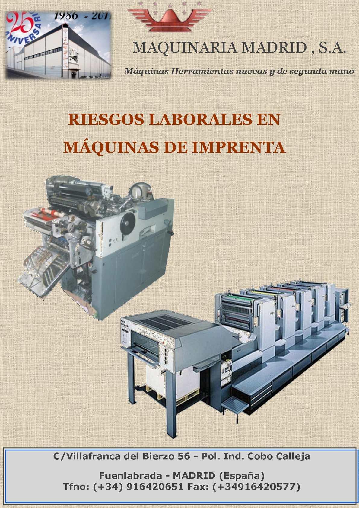 Calaméo - Riesgos máquinas Imprenta