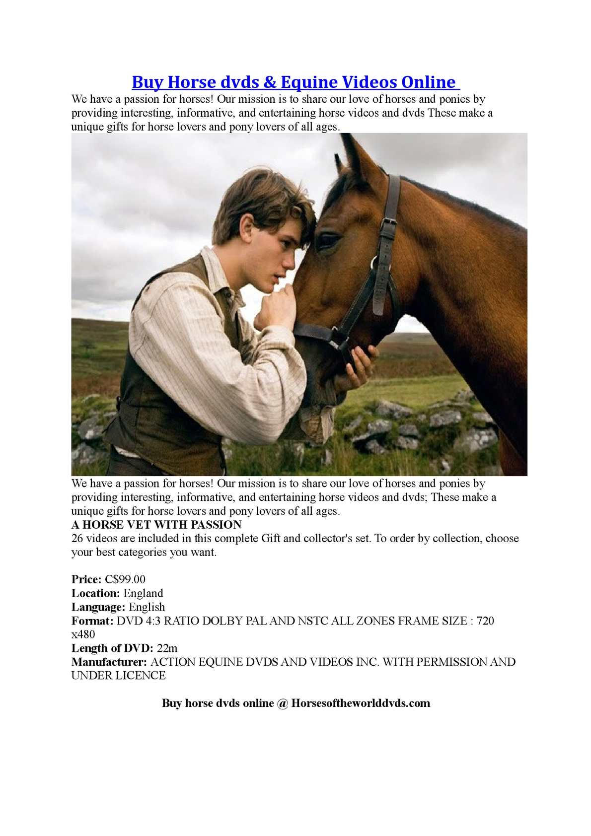 Buy Horse dvds And Equine Videos Online