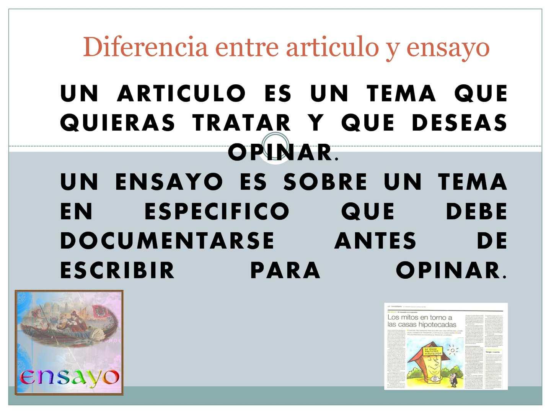 Calaméo - diferencia entre articulo y ensayo