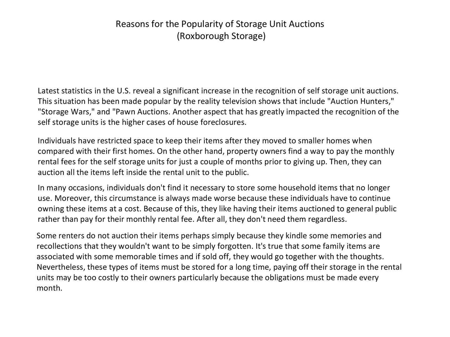 Calaméo - Reasons for the Popularity of Storage Unit Auctions (Roxborough Storage)  sc 1 st  Calameo & Calaméo - Reasons for the Popularity of Storage Unit Auctions ...