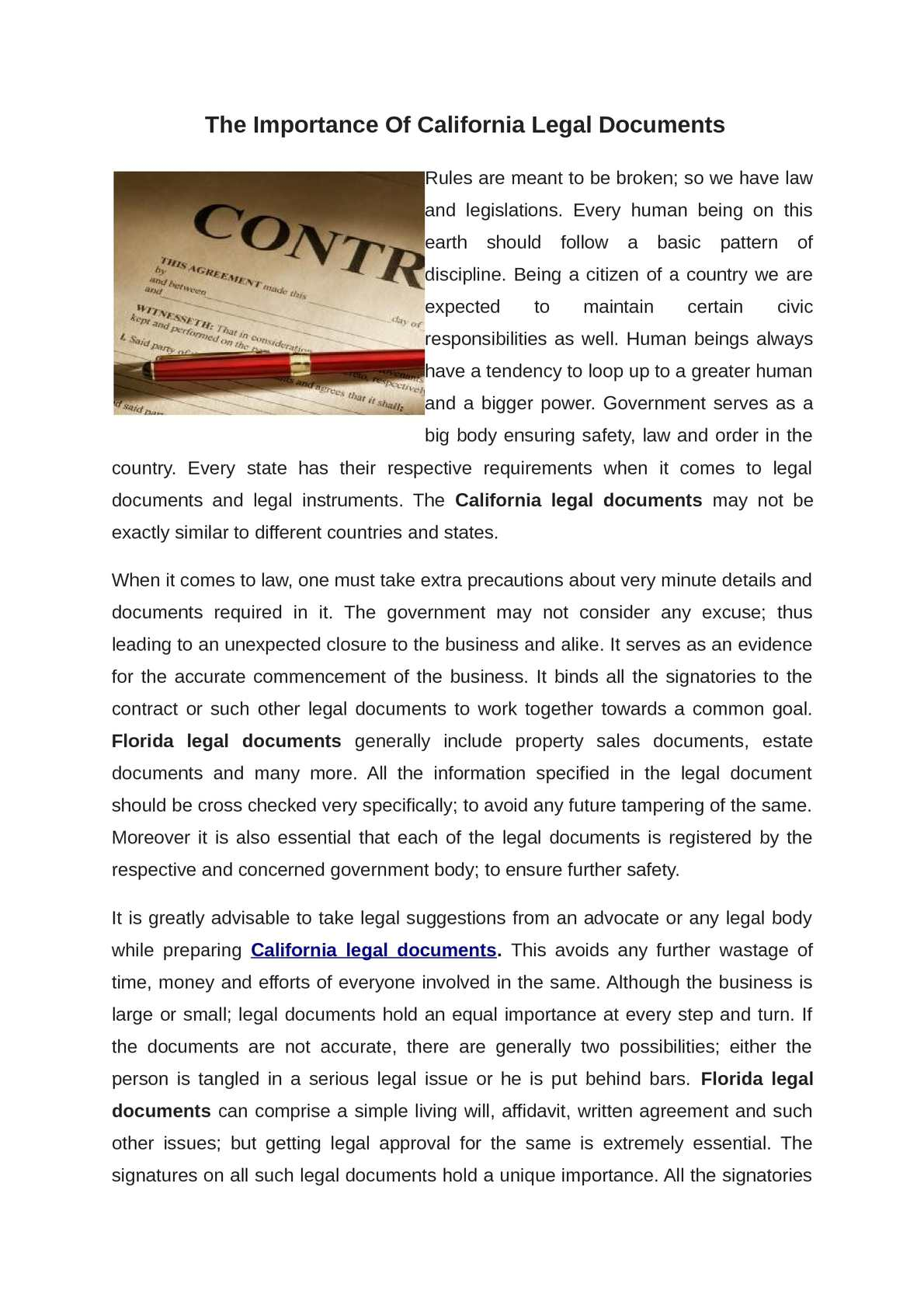 Calaméo California Legal Documents - Simple legal documents