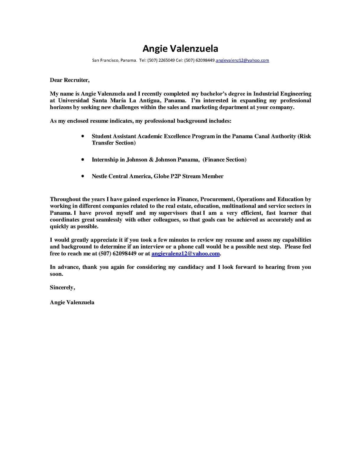 calamo practica industrial iii ejemplo de cover letter - Ejemplo De Cover Letter