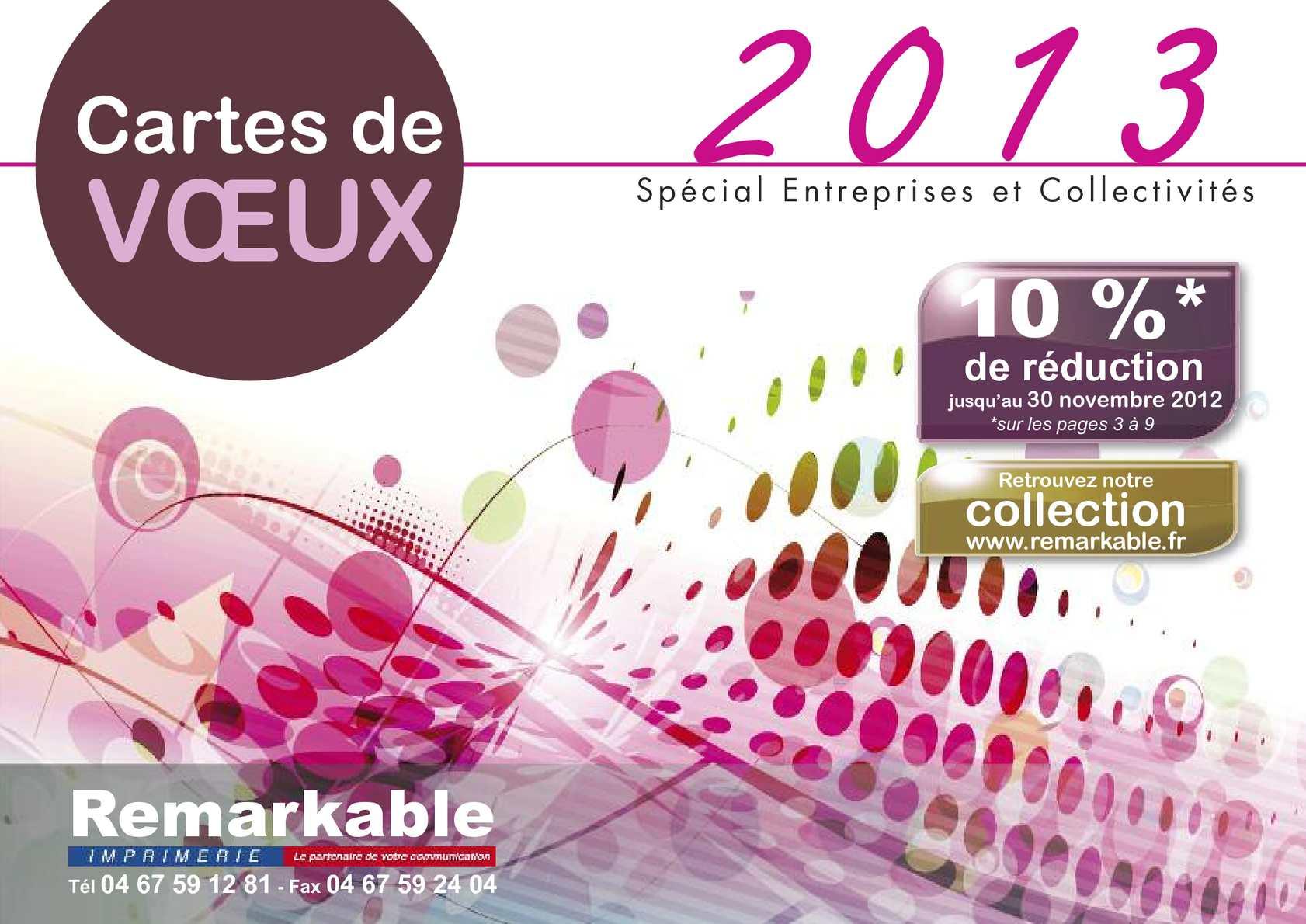 CATALOGUE Cartes de Vœux Entreprises 2012-2013