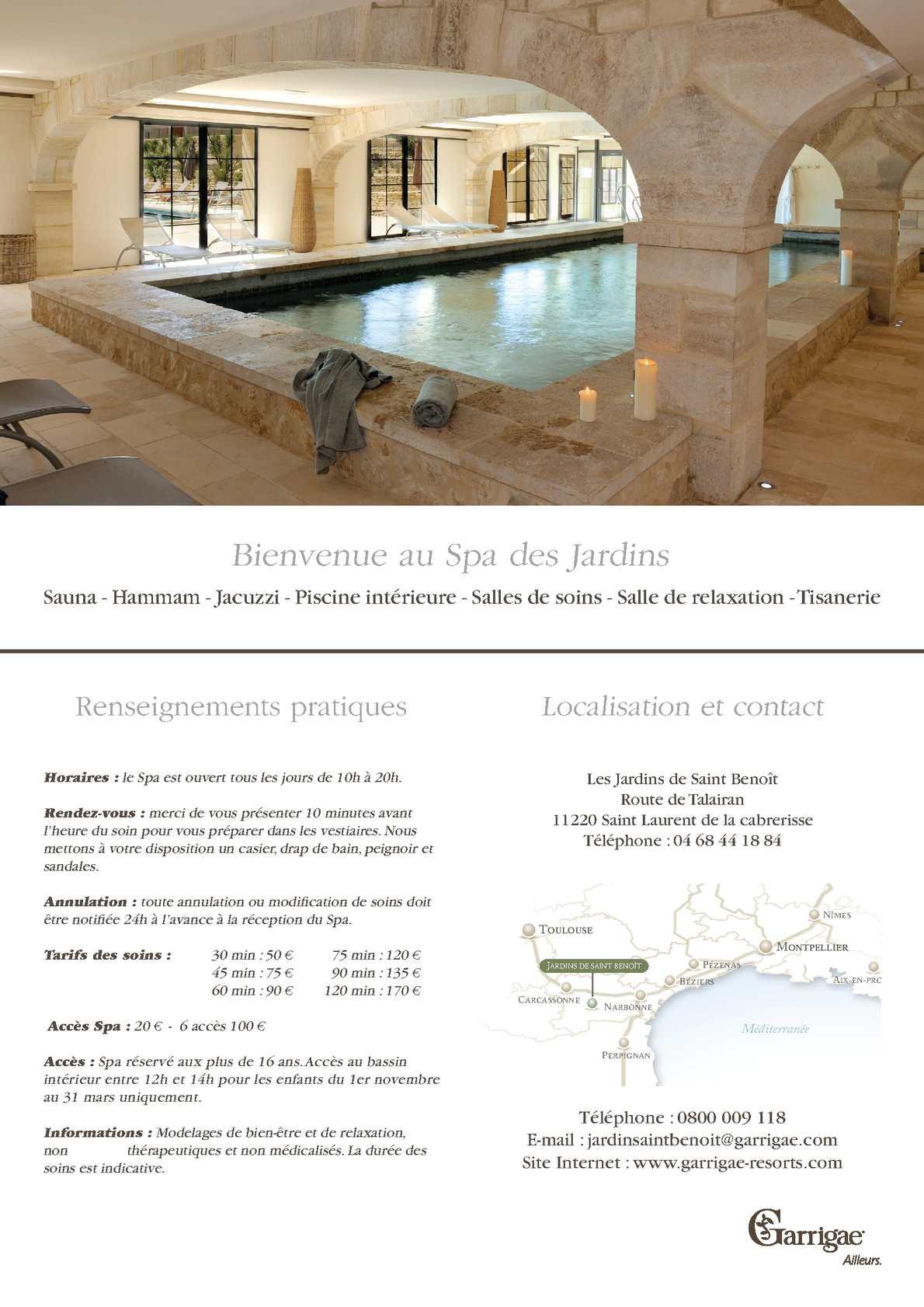 Calaméo Carte des soins Jardins de Saint Benoit