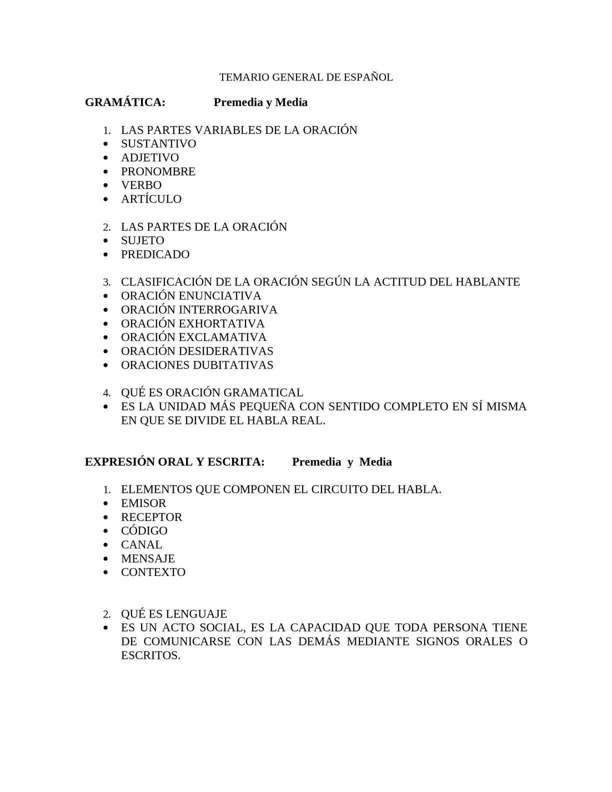 Circuito Del Habla : Calaméo temario general de espaÑol