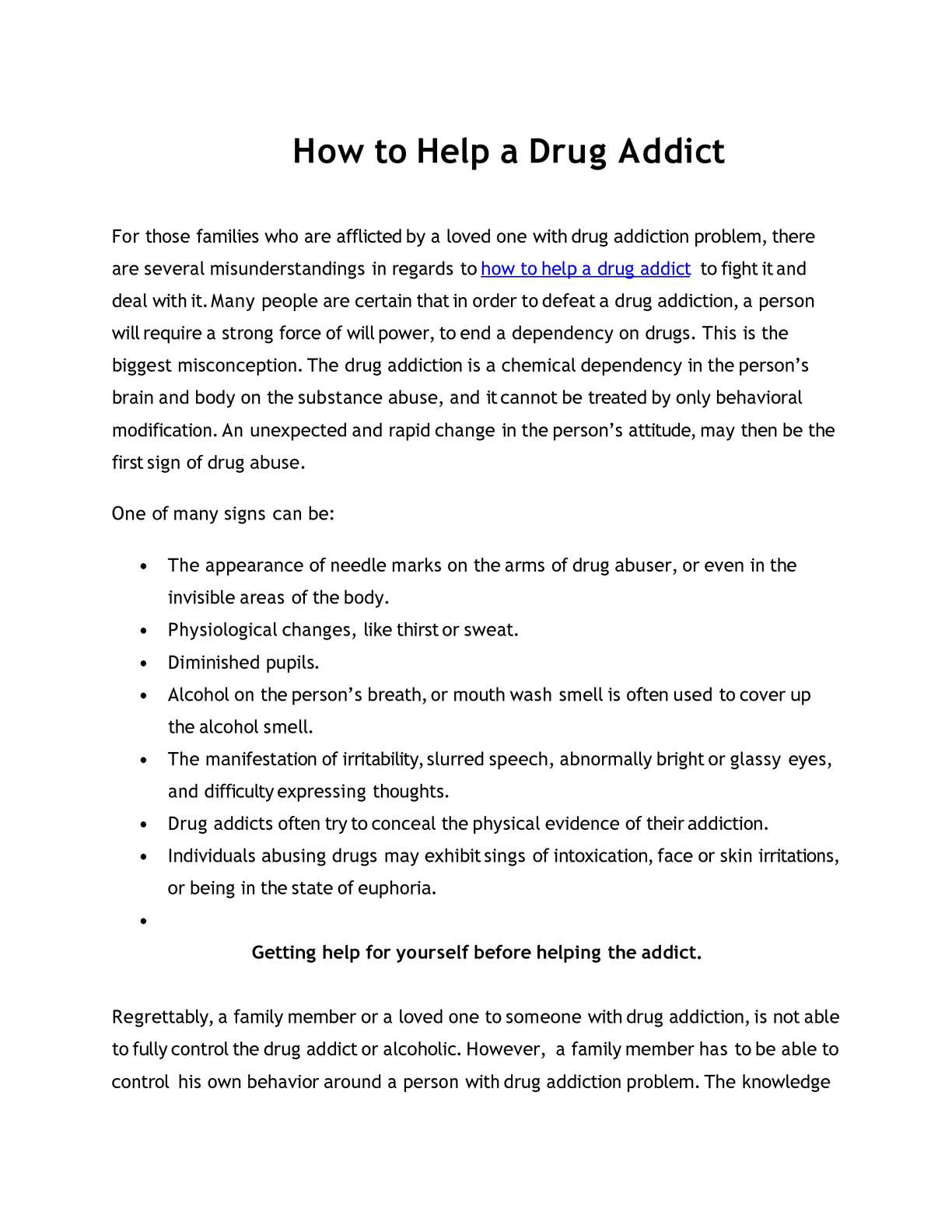 calaméo - how to help a drug addict