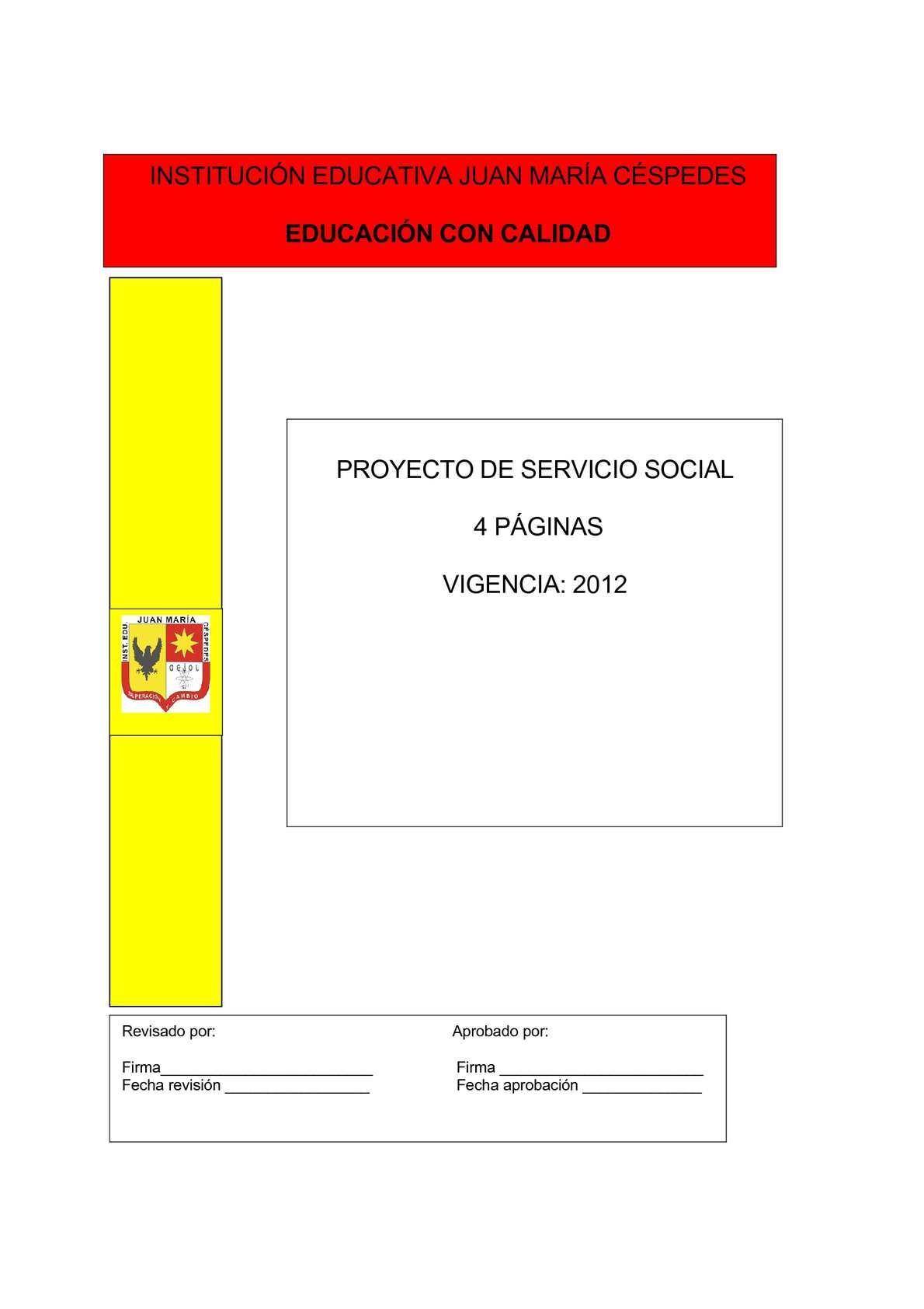 Proyecto Servicio Social