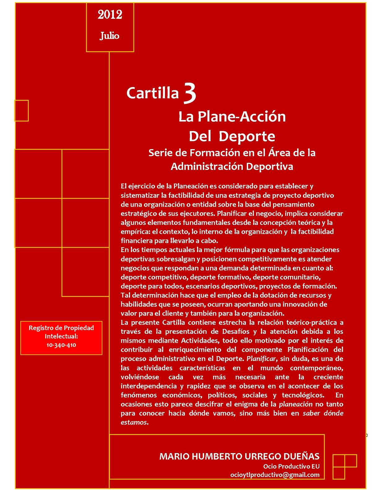 Calaméo - LA PLANE-ACCIÓN DEL DEPORTE-CARTILLA 3 -SERIE DE ...