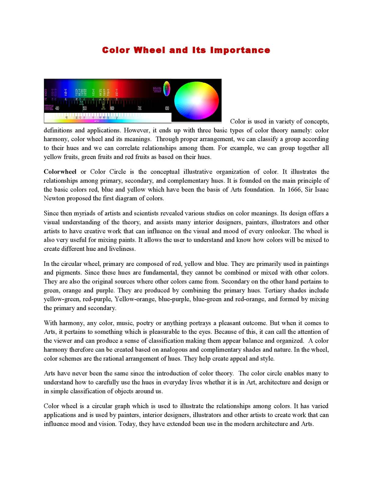 Calameo Color Wheel And Its Importance