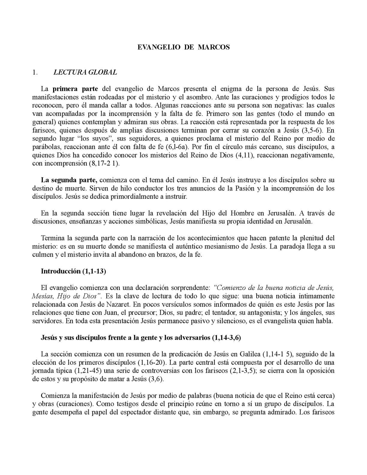 Calaméo - ANÁLISIS Y TEMÁTICA DEL EVANGELIO DE MARCOS