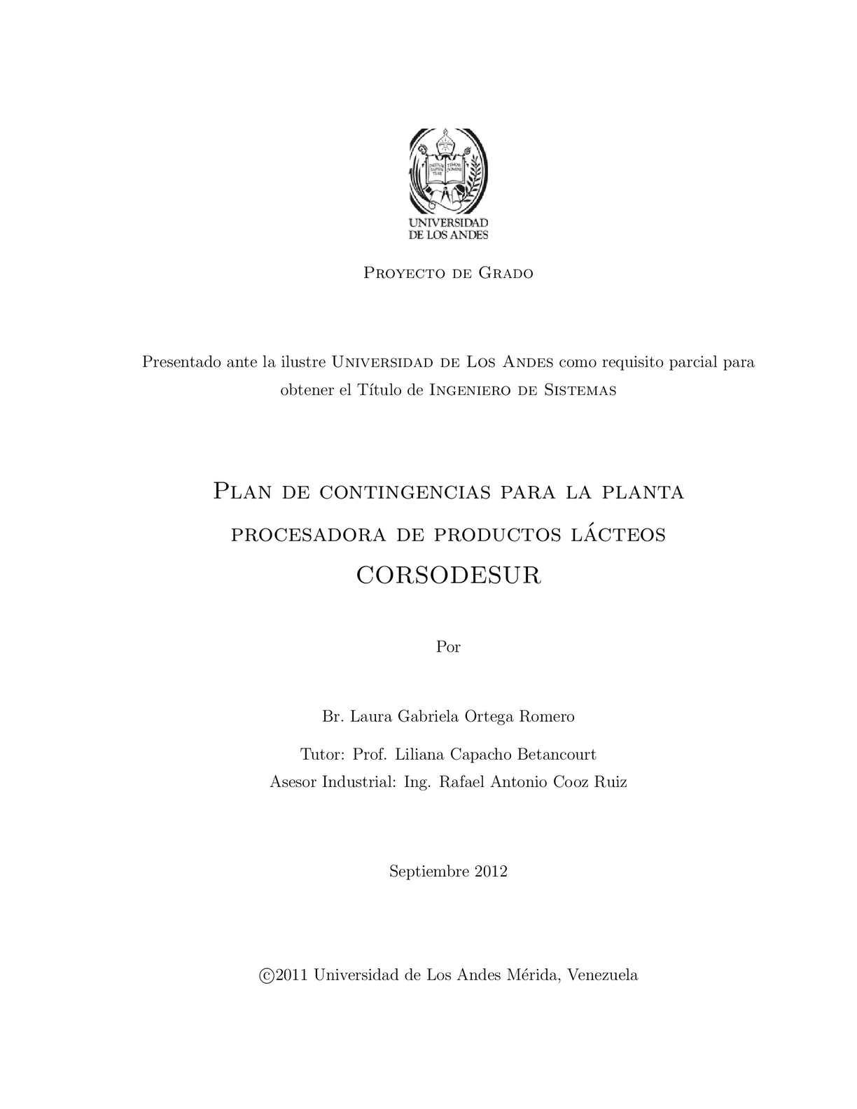 Calaméo - Plan de contingencias para la planta procesadora de ...