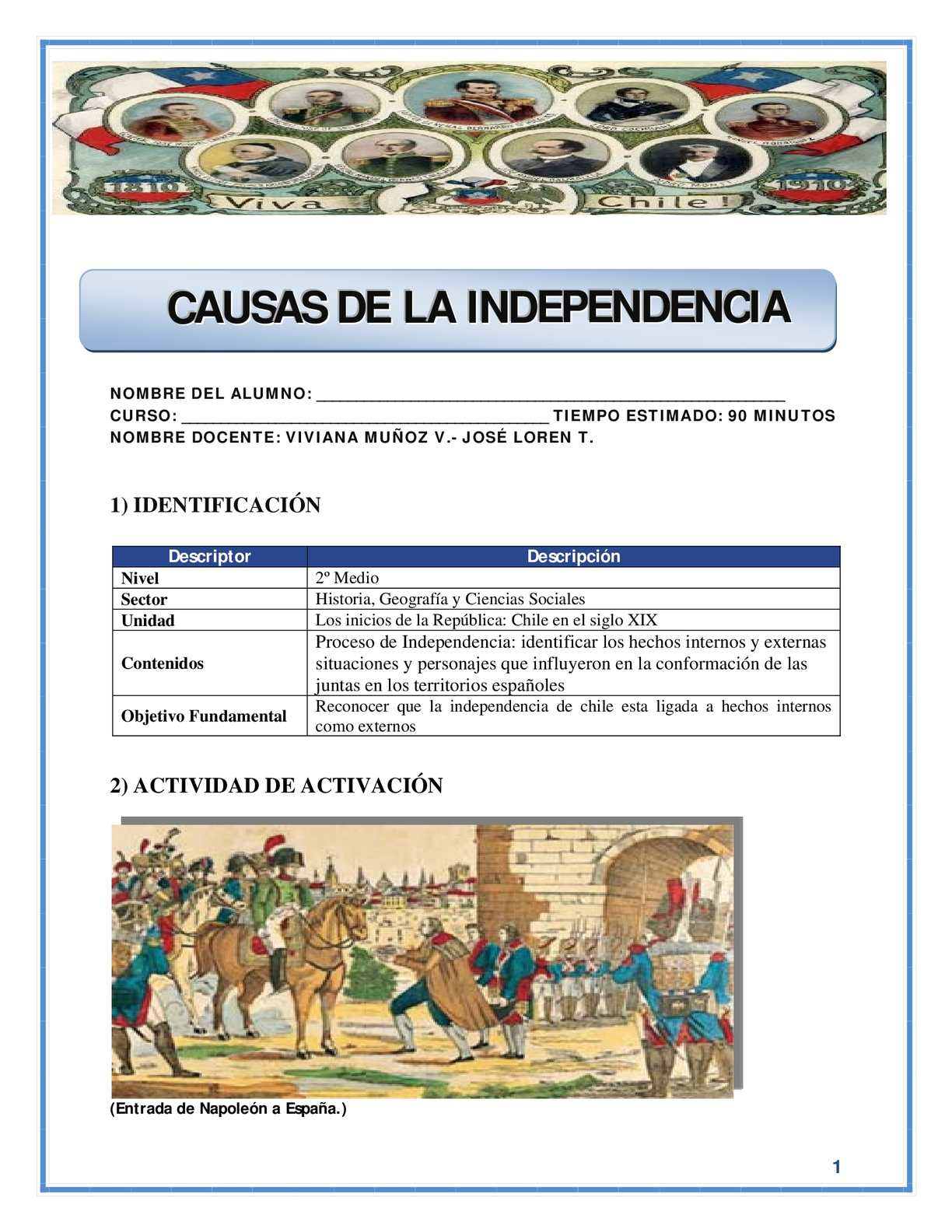 Guía Didactica Independencia