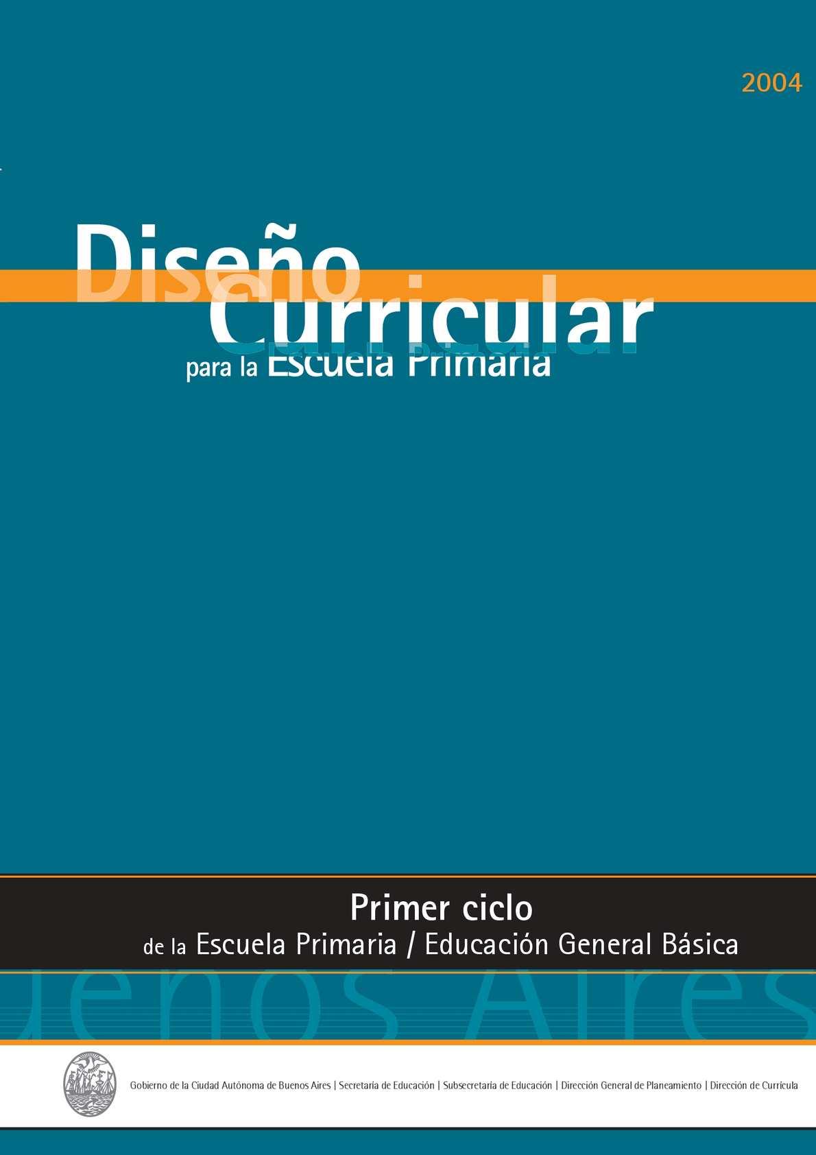 Calaméo - Diseño Curricular Primer Ciclo