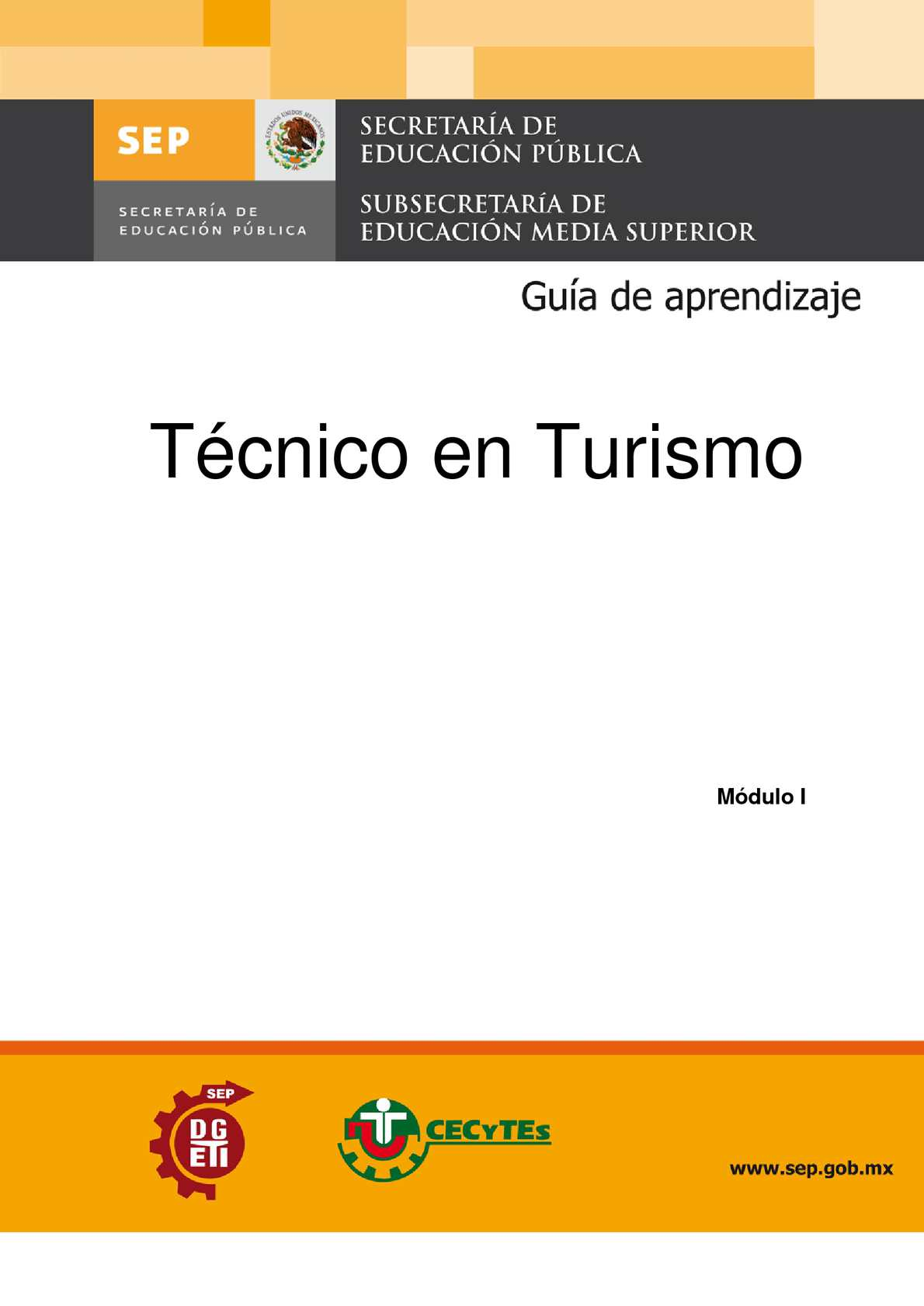 Guia para el alumno Módulo I Proporciona servicios de información turística