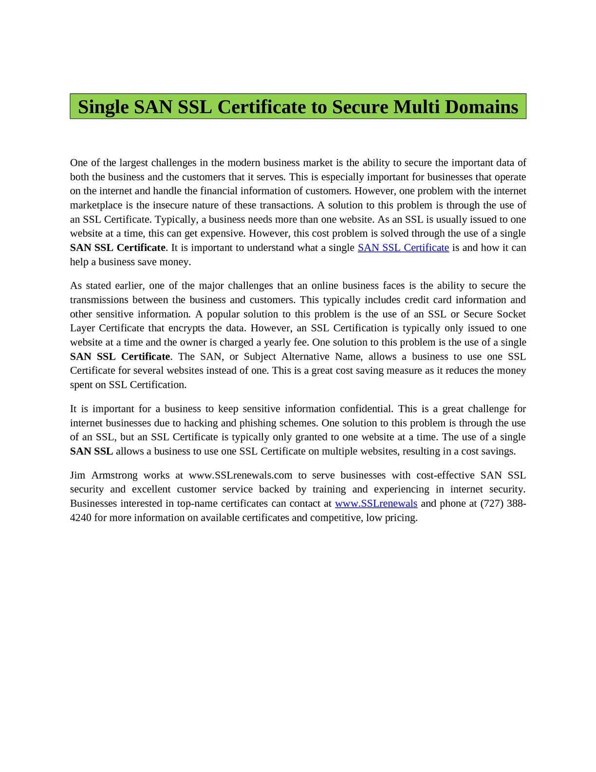Calamo San Ssl Certificate