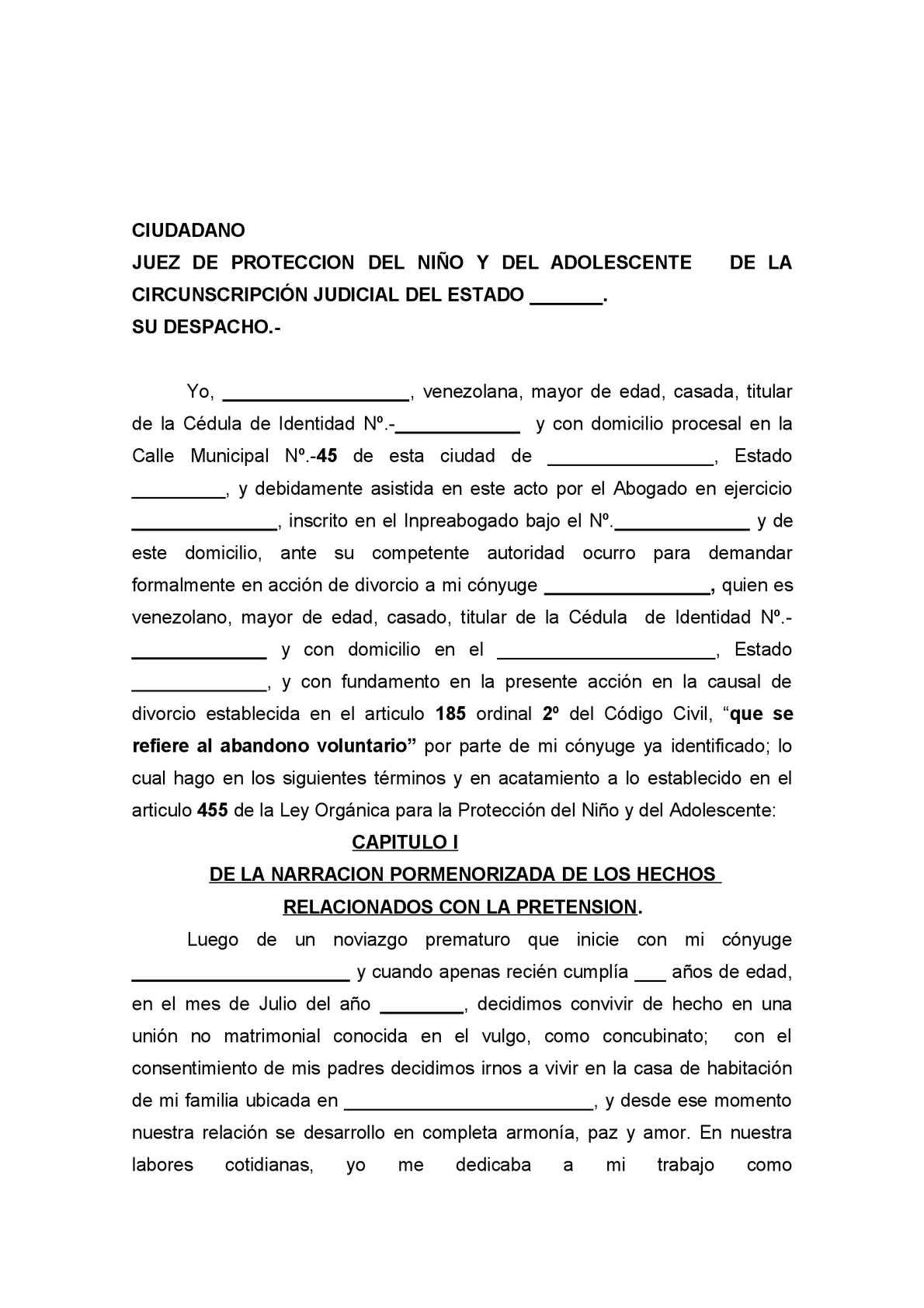 Calam o divorcio 185 con ordinales 2 y 3 - Separacion sin hijos quien se queda en casa ...