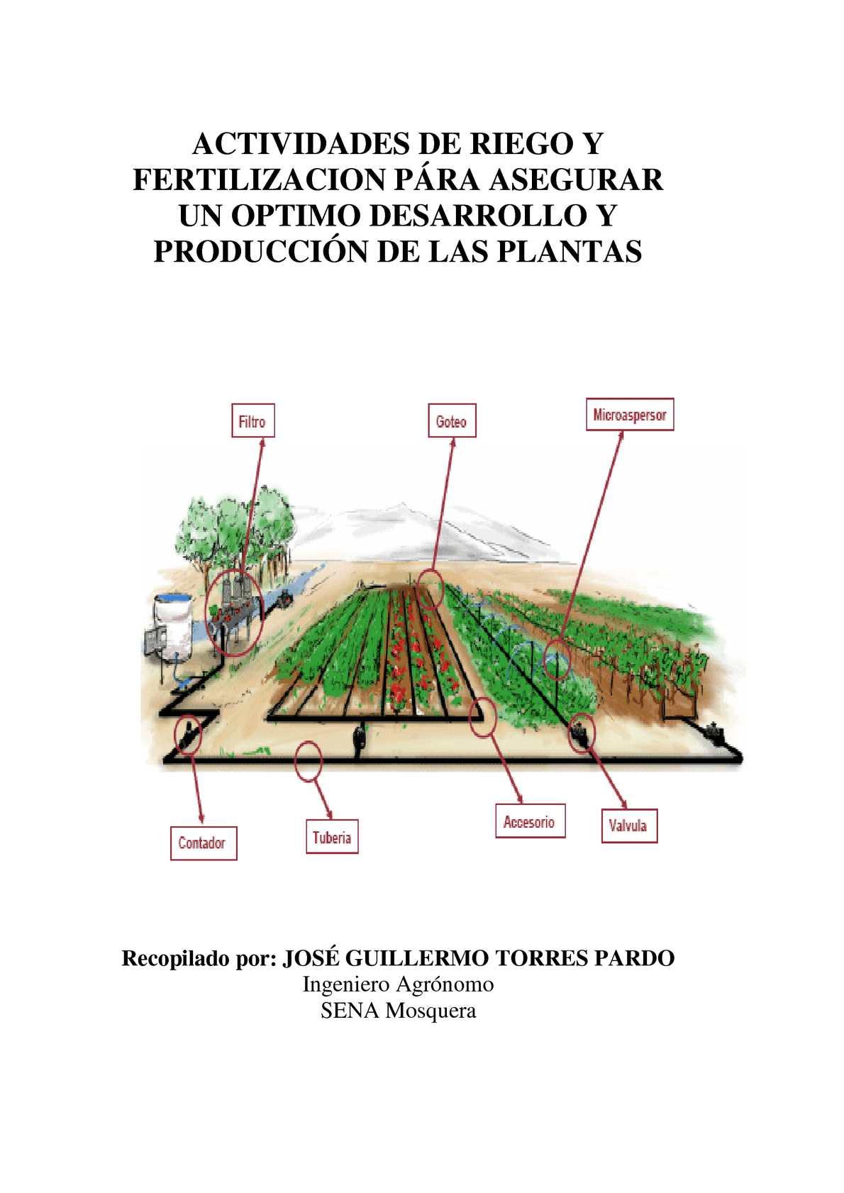 Calam o joguitopar riego y fertilizacion for Aspersores para riego de jardin