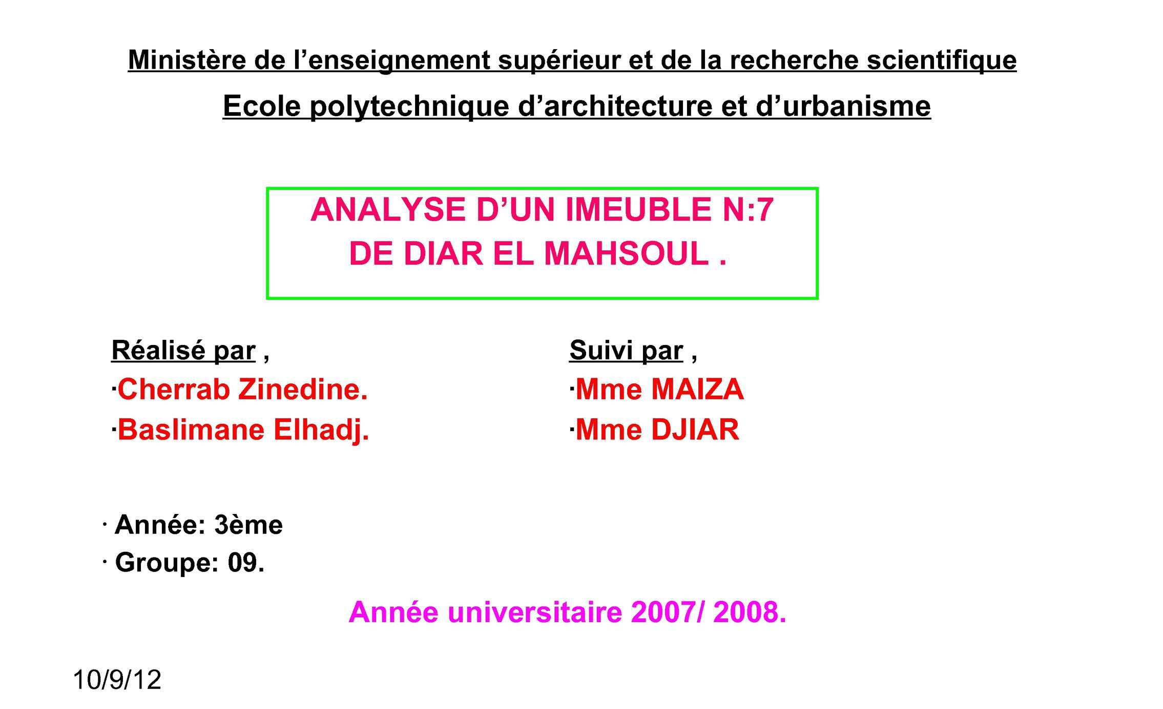Cherrab & Basliman Dyar El Mahçoul
