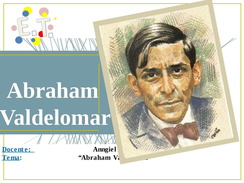 Calaméo - Abraham Valdelomar