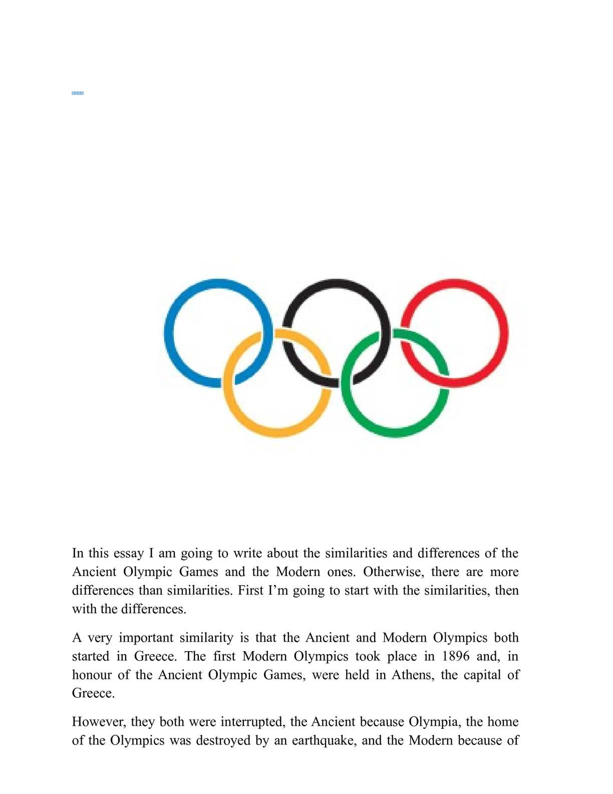 games of the ancient olympics essay