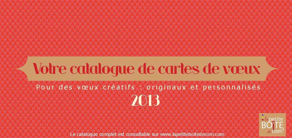 Votre catalogue de carte de voeux 2013