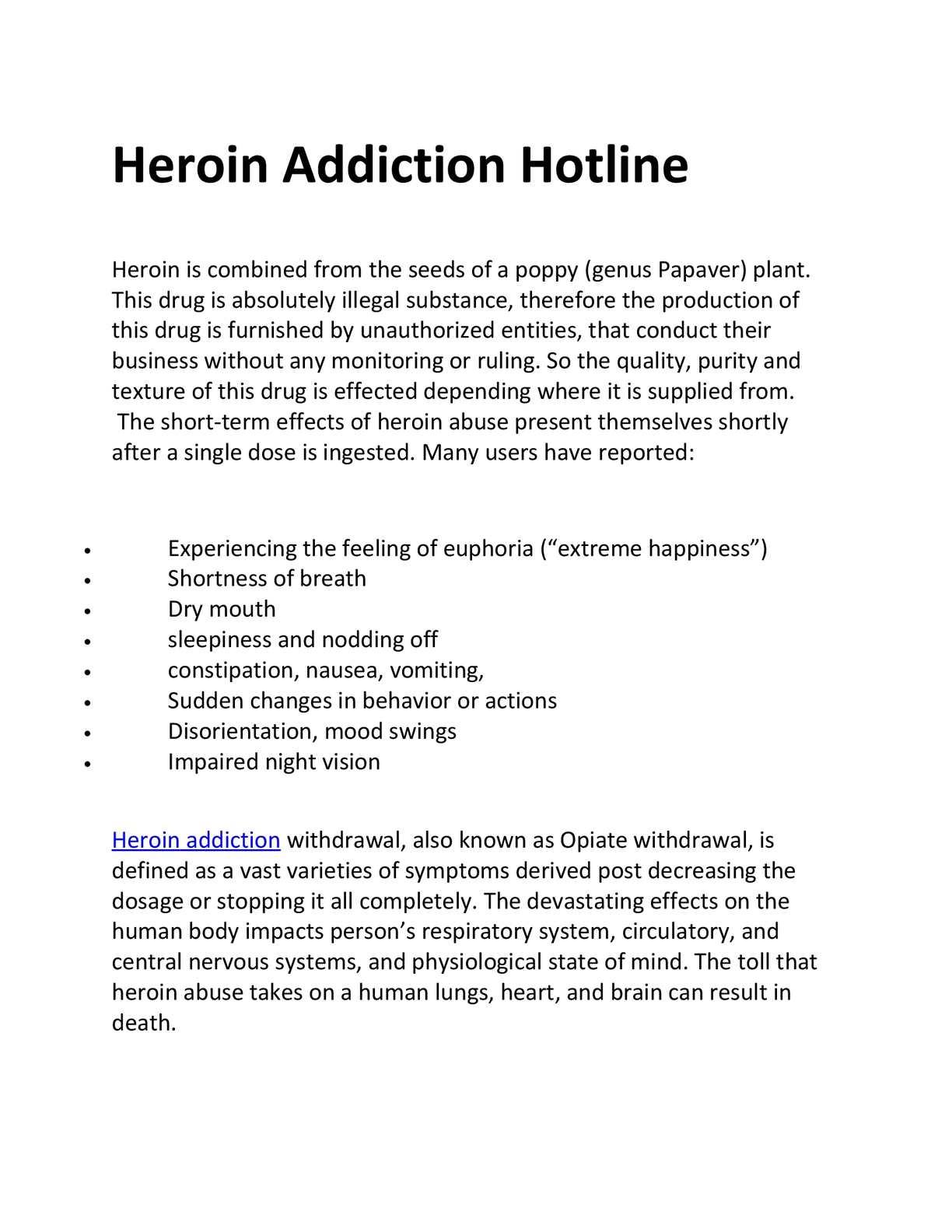 calaméo - heroin addiction hotline