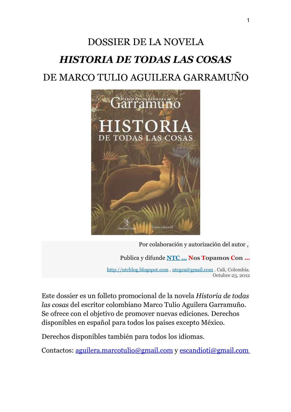 Calaméo - HISTORIA DE TODAS LAS COSAS. MARCO TULIO AGUILERA ...
