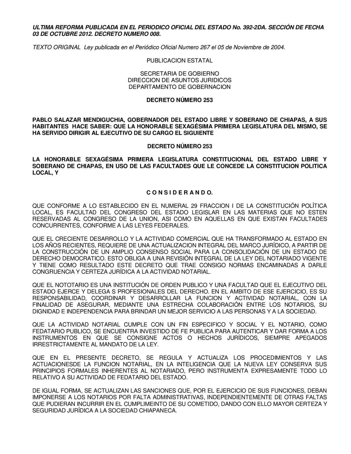 Calaméo - Ley del Notariado para el Estado de Chiapas