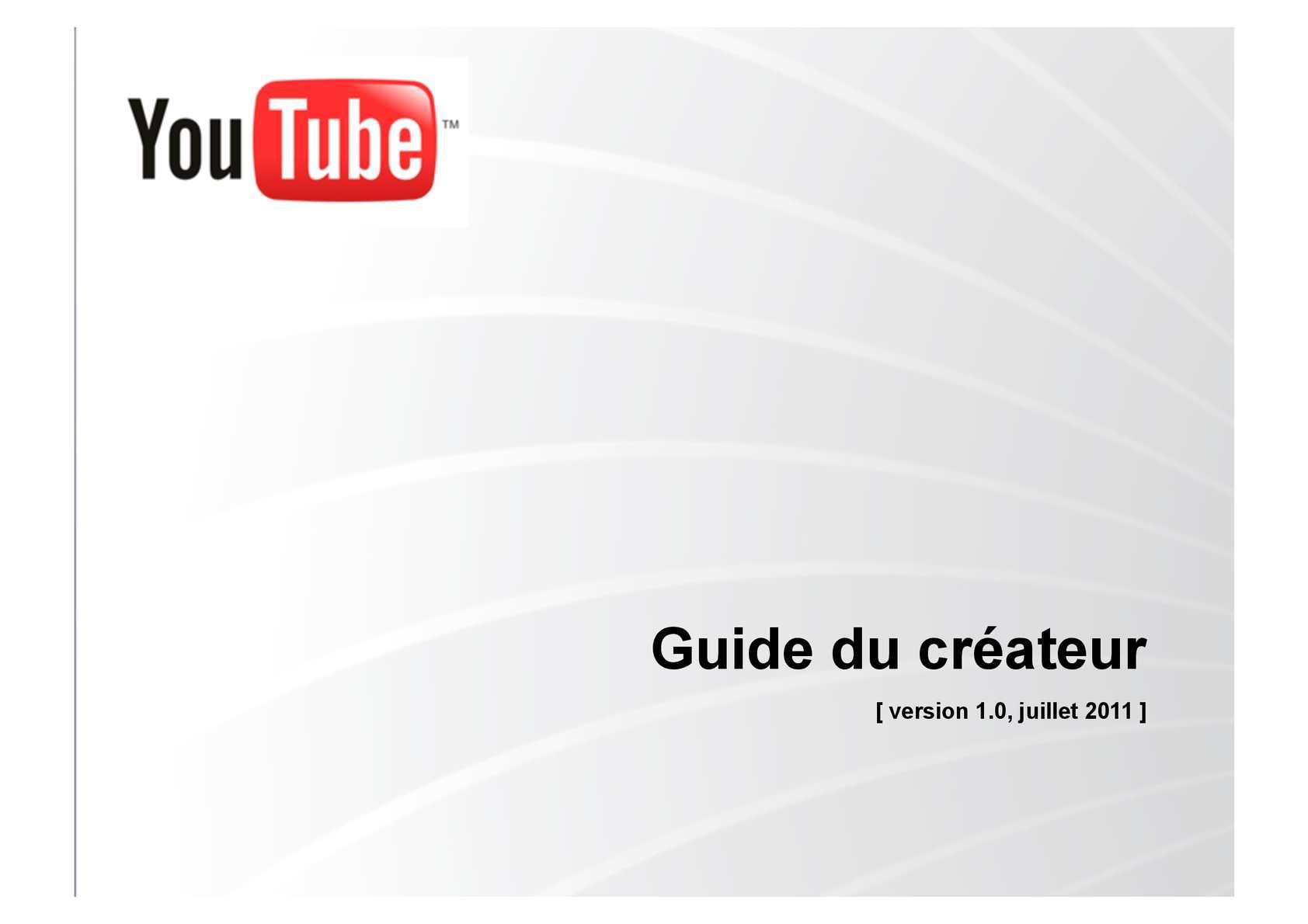 Guide du créateur de YouTube