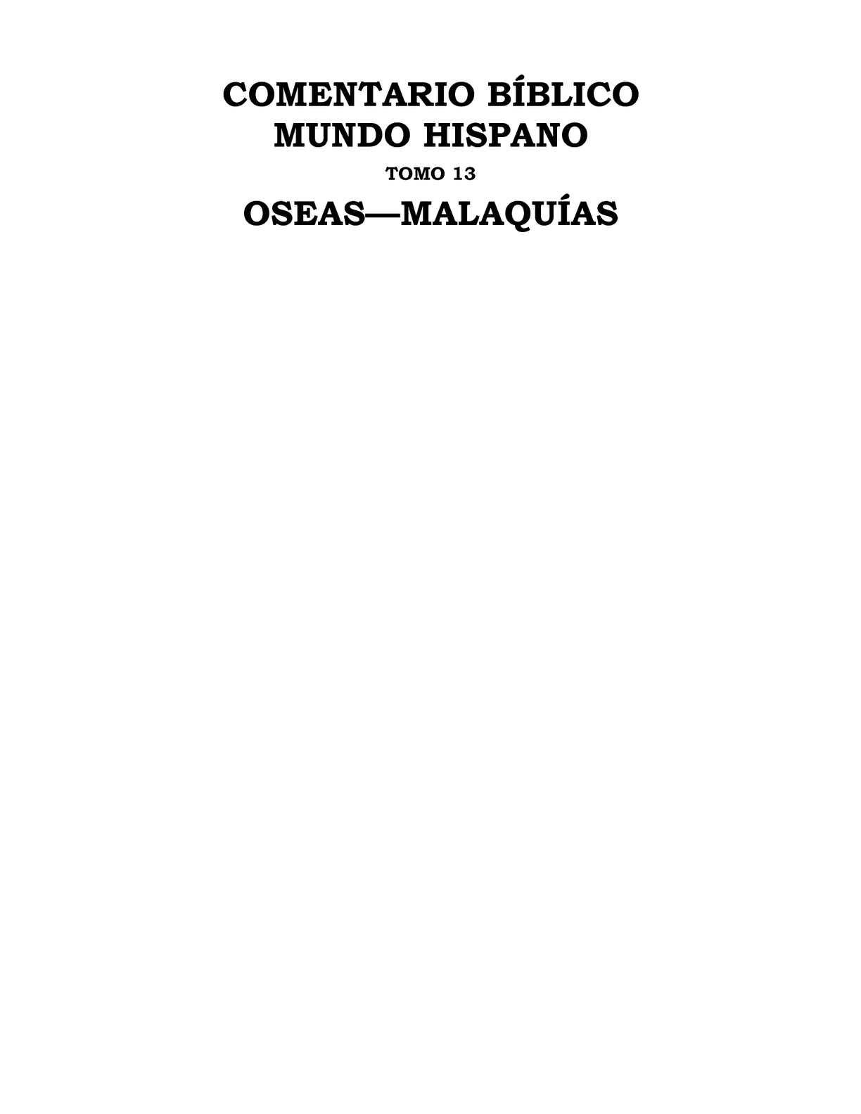 Carro Santa Fa >> Calaméo - Oseas y Malaquías. CBMH Tomo 13