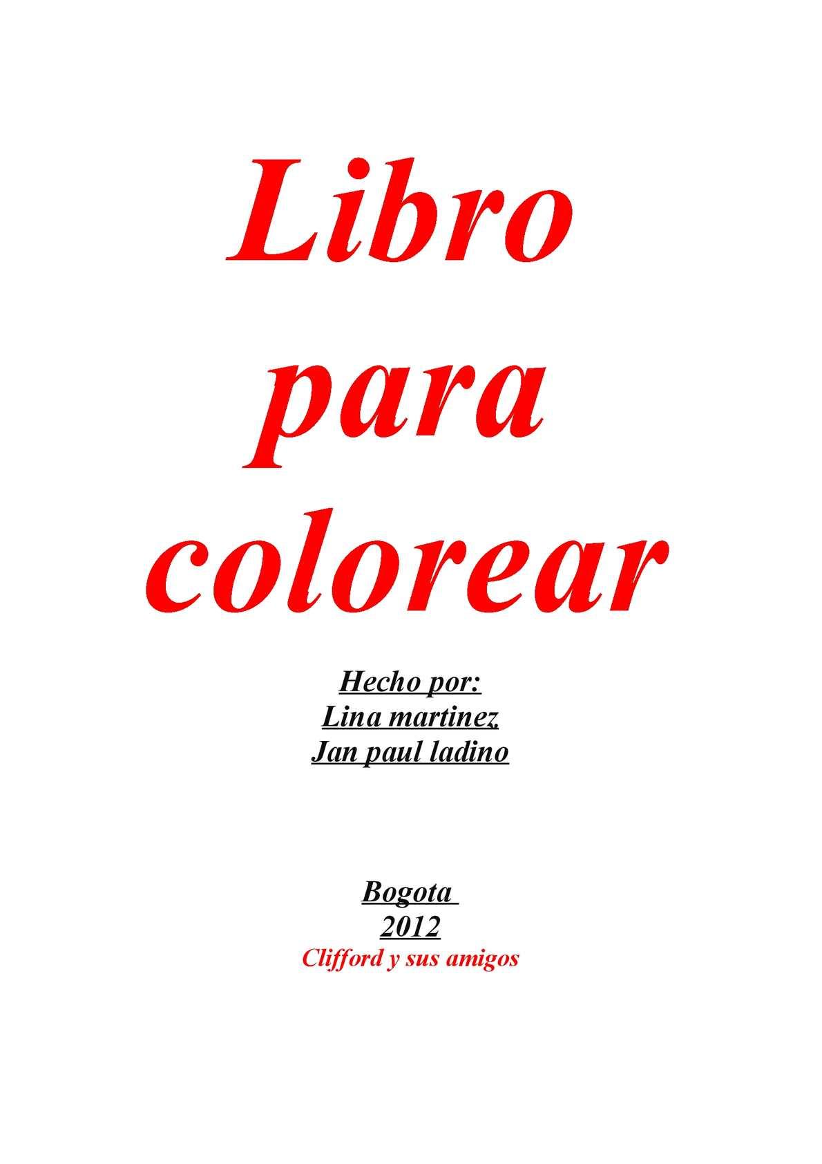 Calaméo - librito para colorear