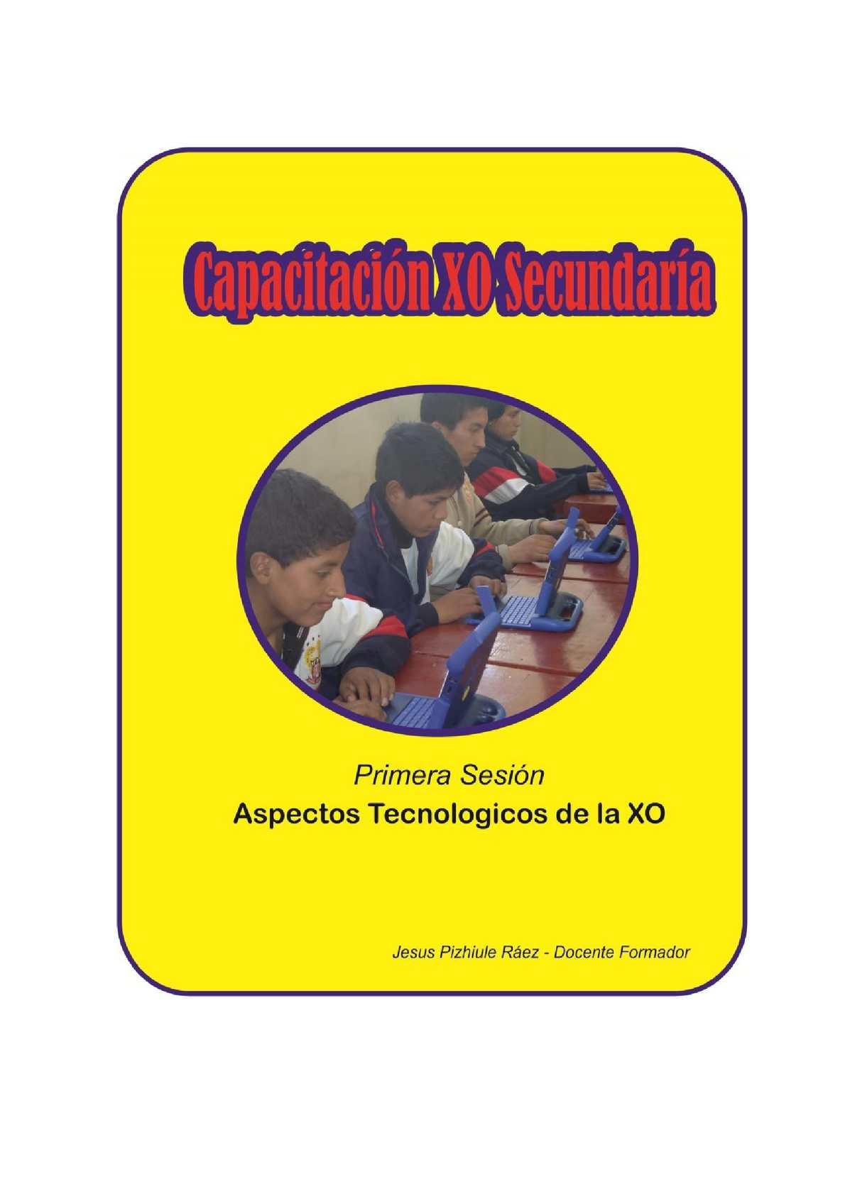 Aspectos Técnicos de la XO - Secundaria