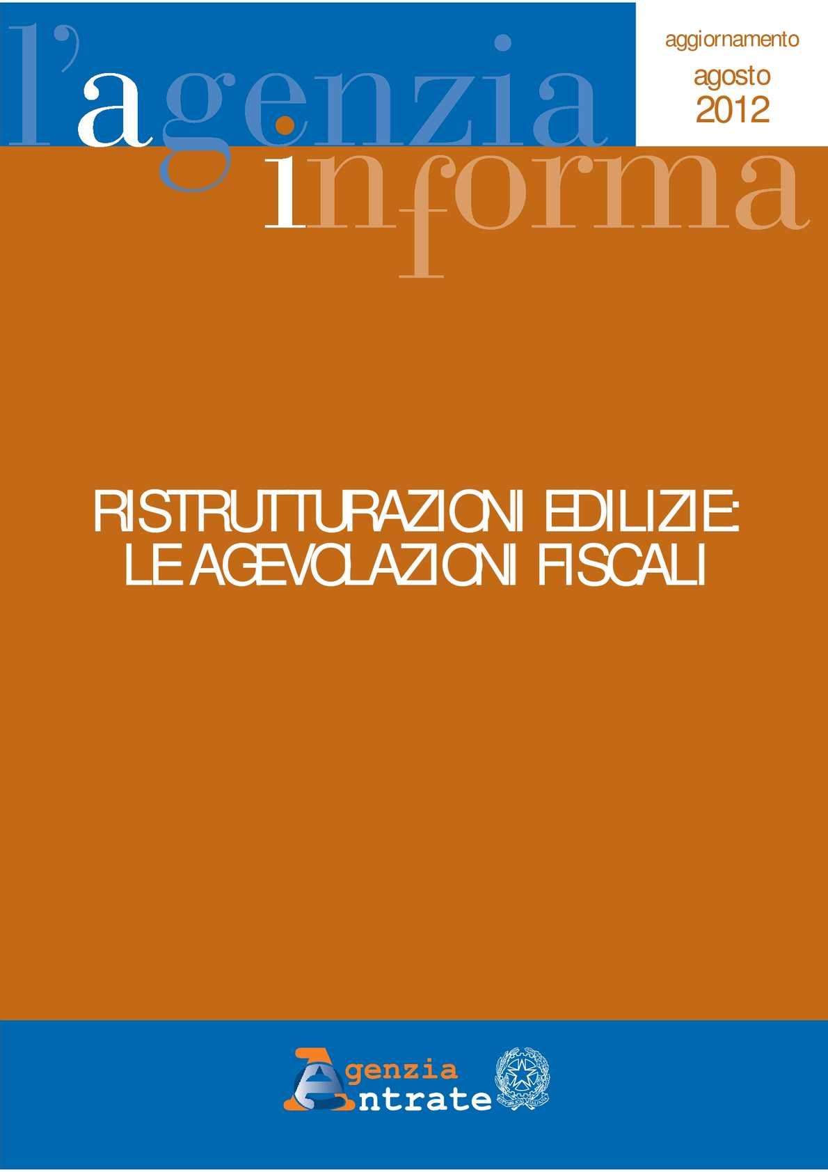 Calam o guida 2012 alle agevolazioni fiscali per - Agevolazioni fiscali per ristrutturazione bagno ...
