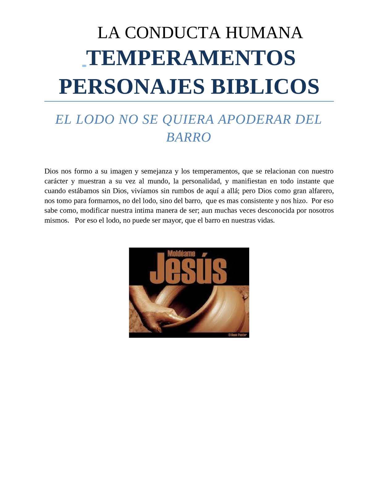 TEMPERAMENTOS PERSONAJES BIBLICOS