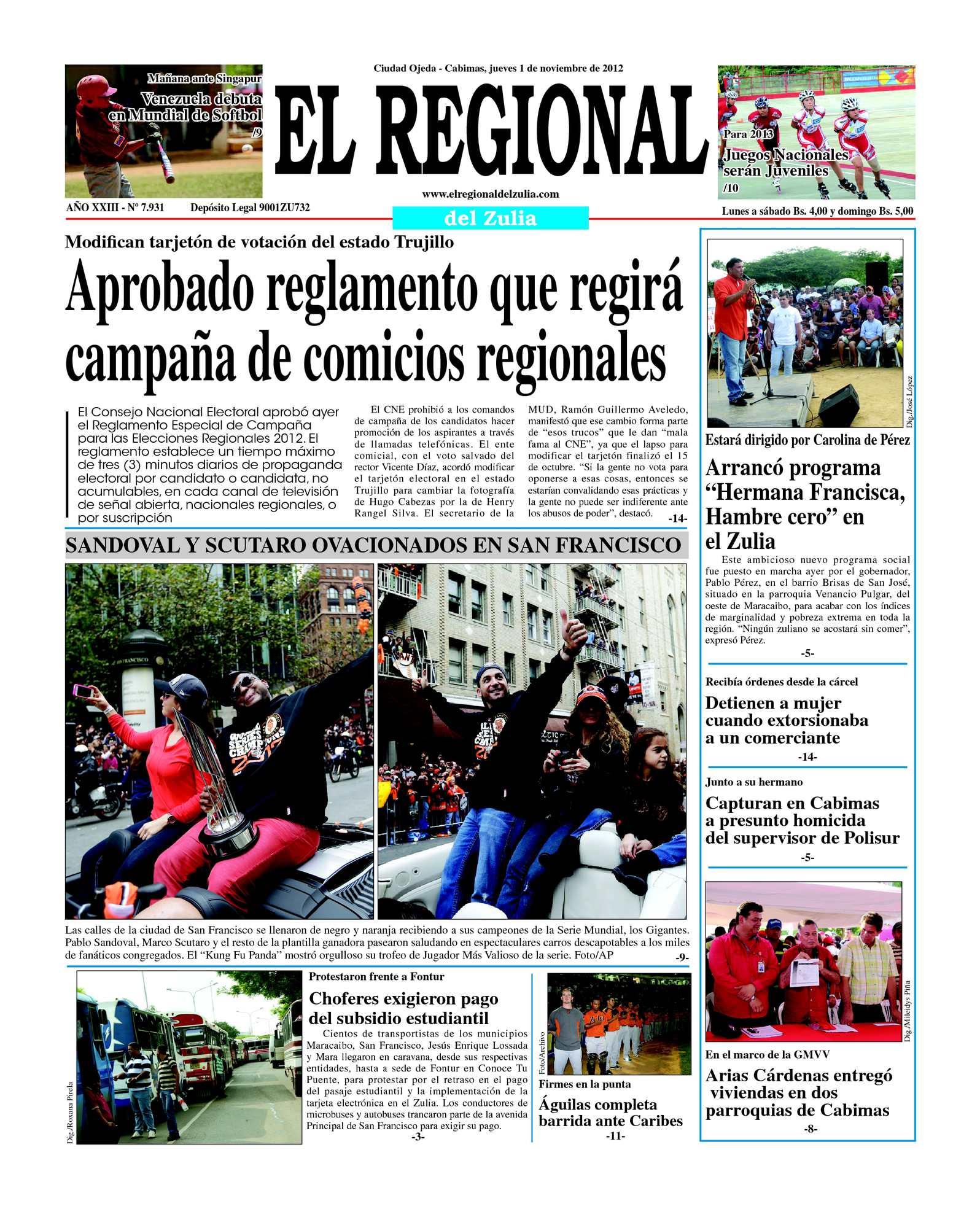 Calaméo - El Regional del Zulia 01-11-2012