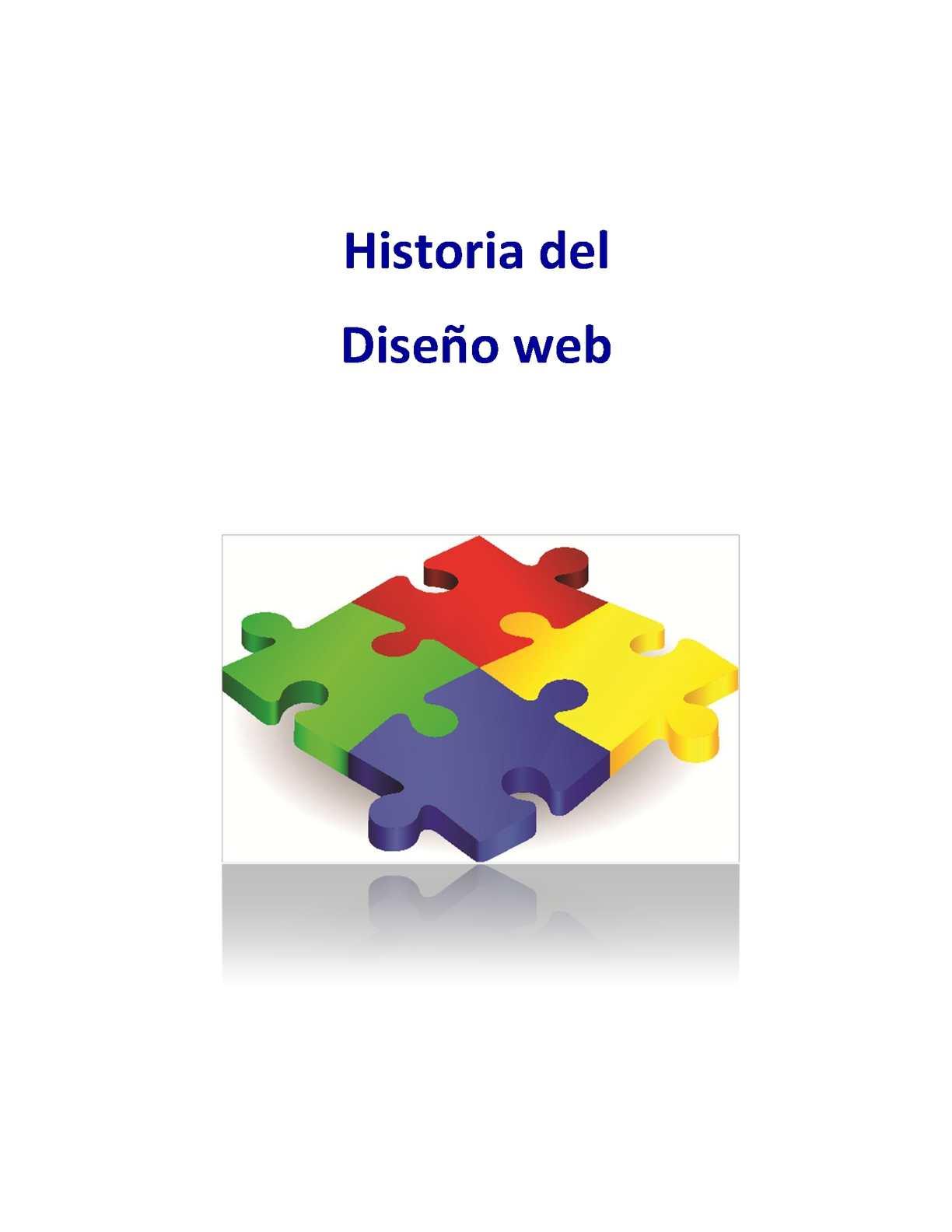 Historia del diseño web