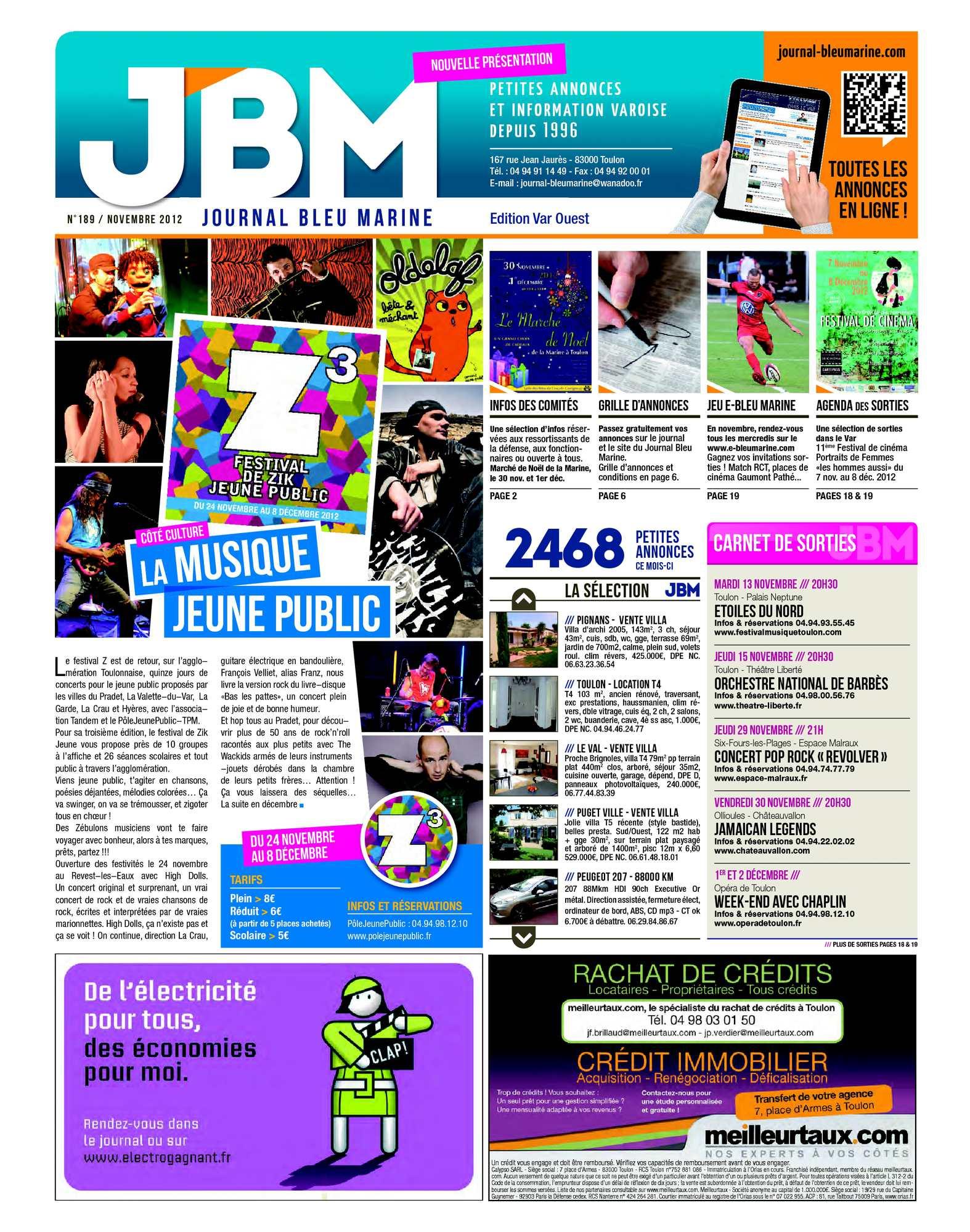 Calaméo Journal Bleu Marine n°189 Novembre 2012
