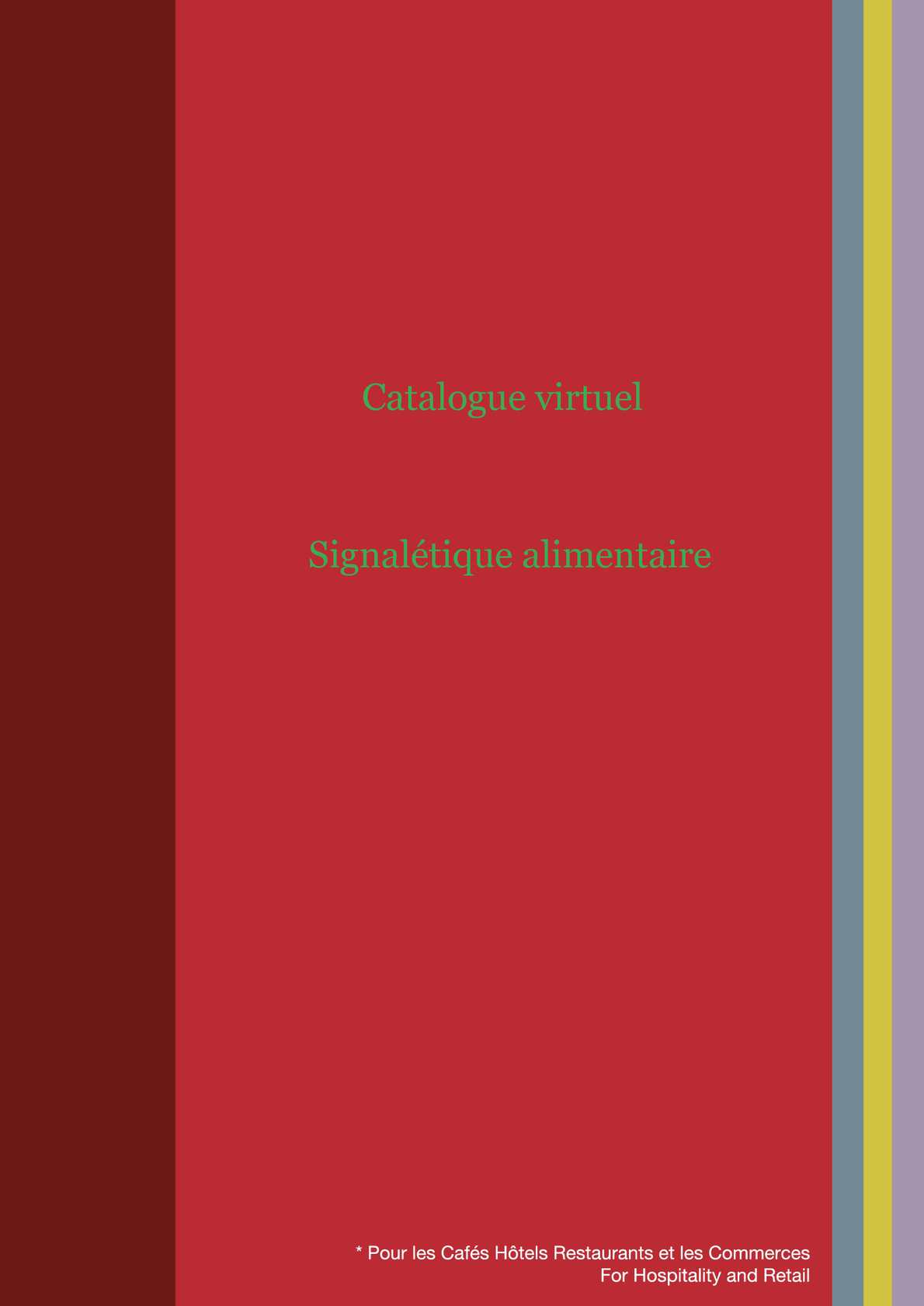 Catalogue virtuel de la signalisation alimentaire