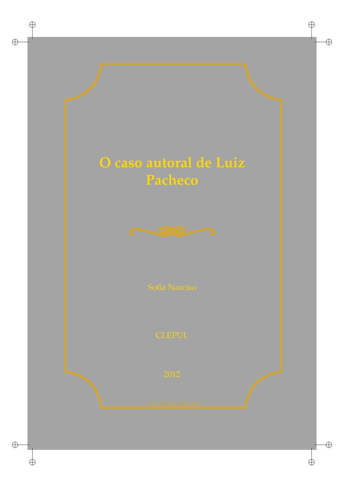 O caso autoral de Luiz Pacheco