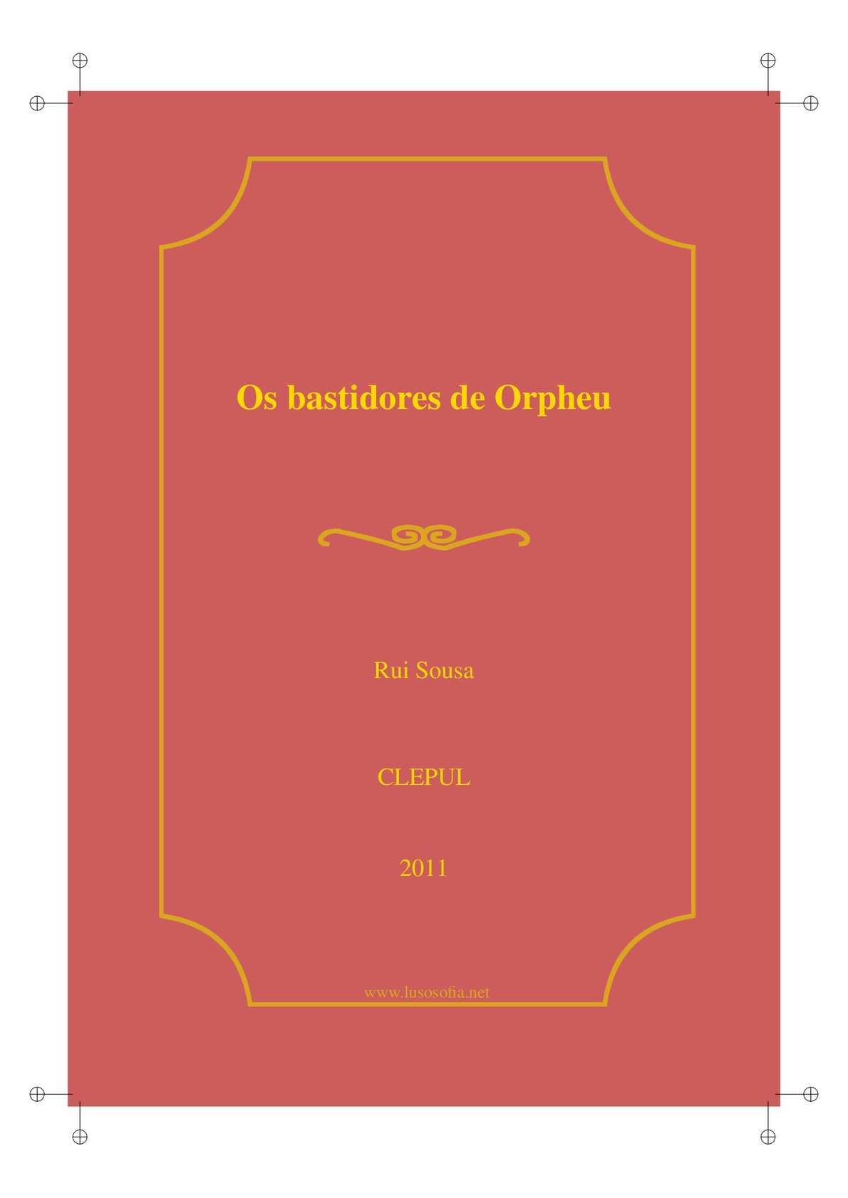 Os bastidores de Orpheu